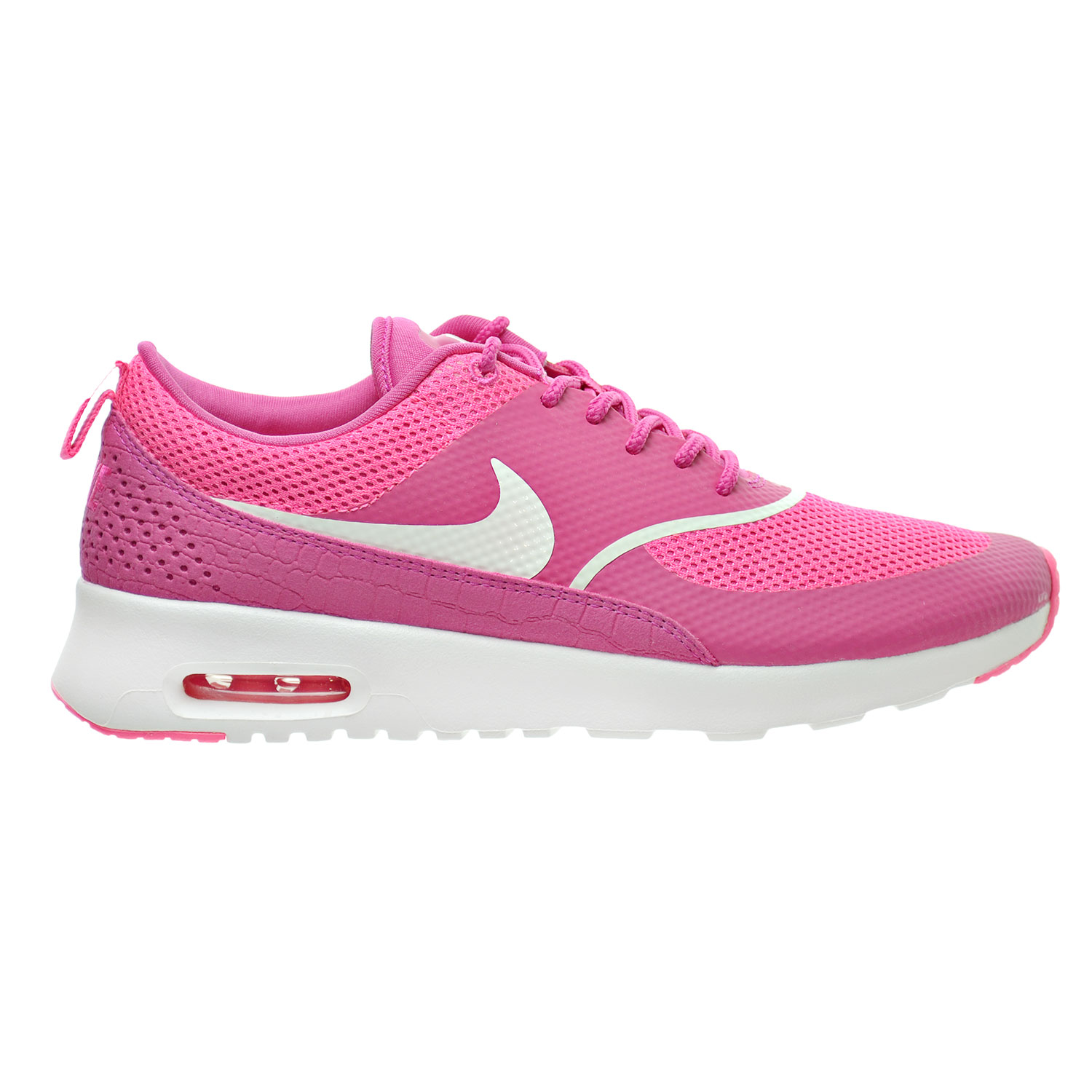 nike air max thea women 39 s shoes vivid pink summit white. Black Bedroom Furniture Sets. Home Design Ideas