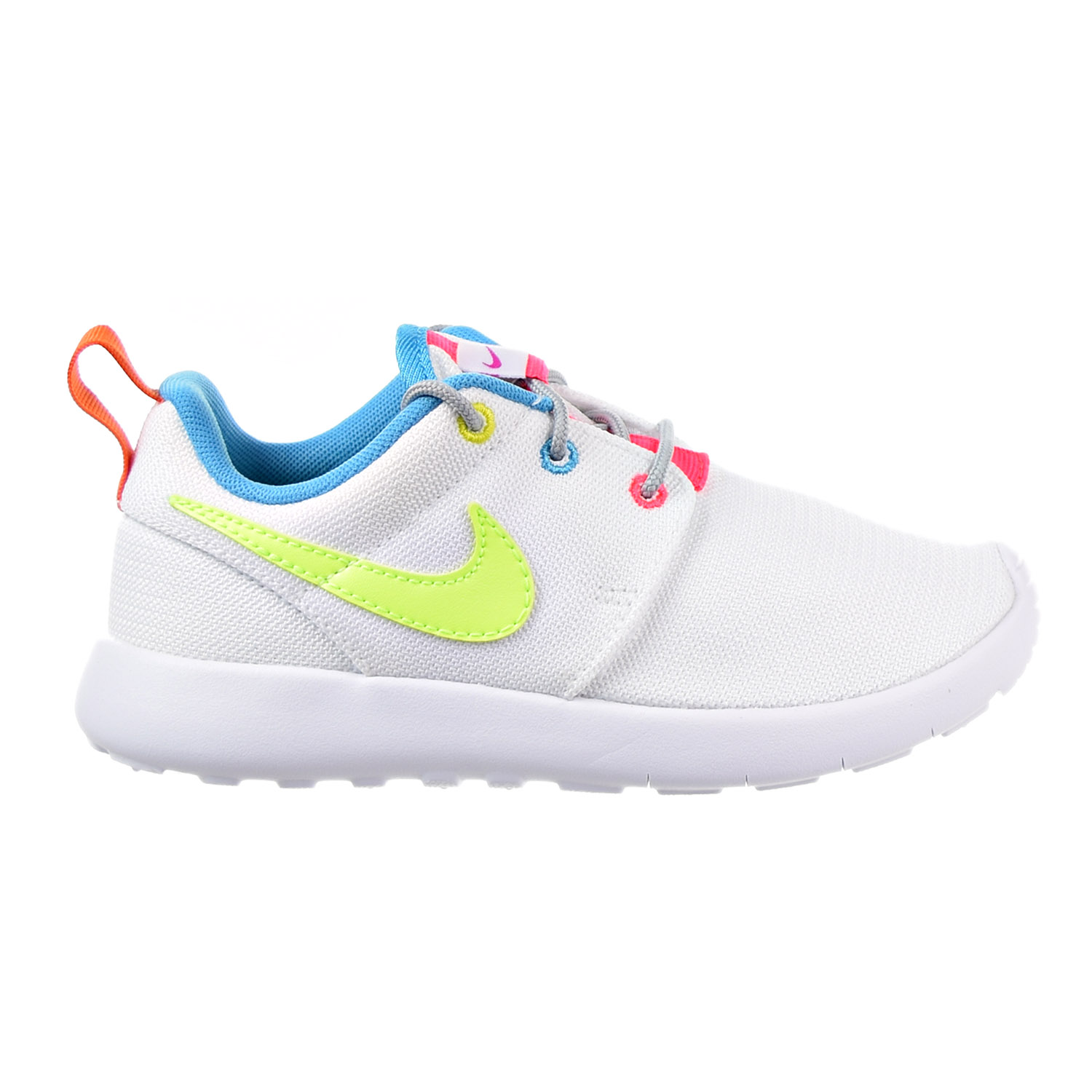 85d637040919a Nike Roshe One Little Kid s(PS) Shoes White Racer Pink Volt 749422
