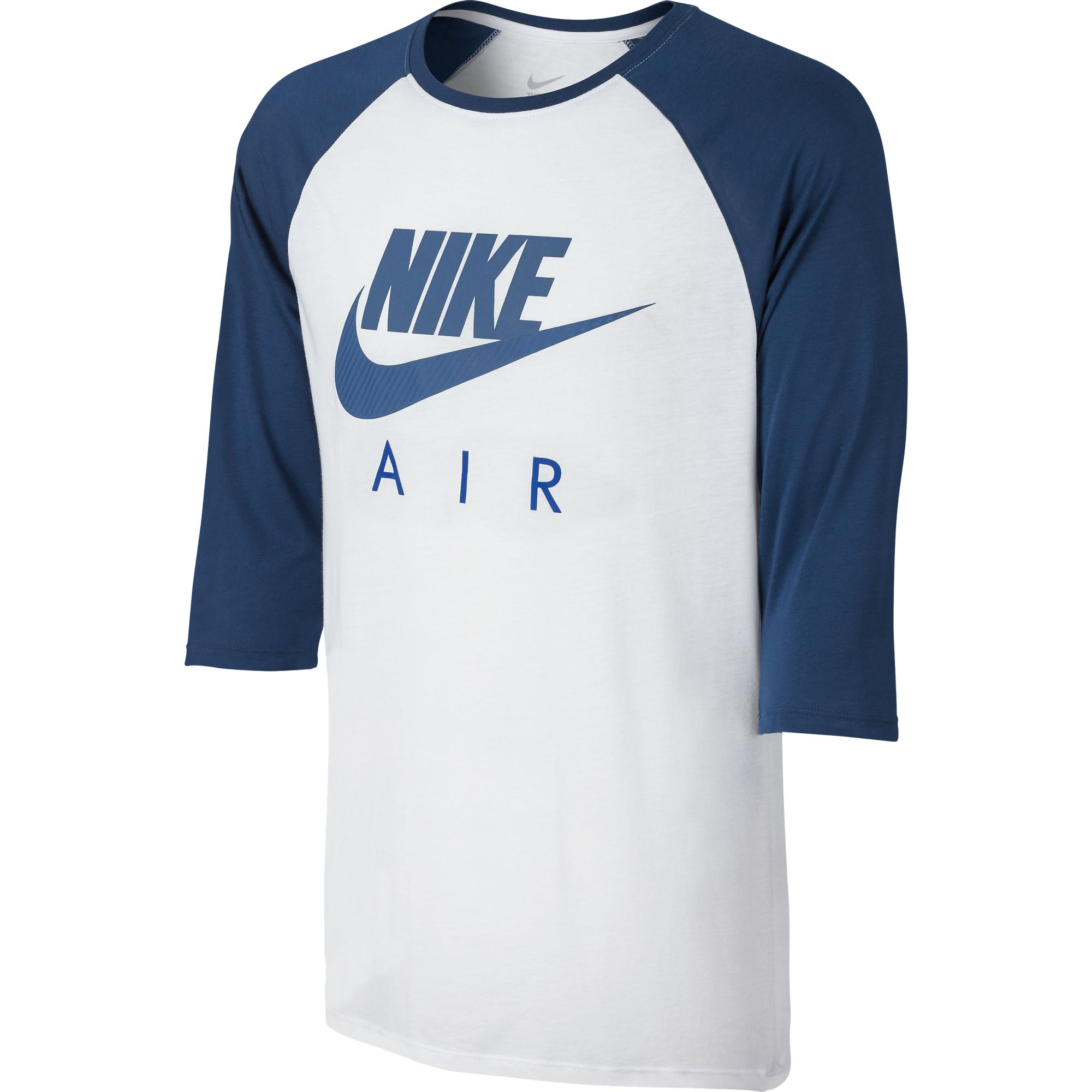Nike Air Long Sleeve Raglan Men 39 S T Shirt White Blue