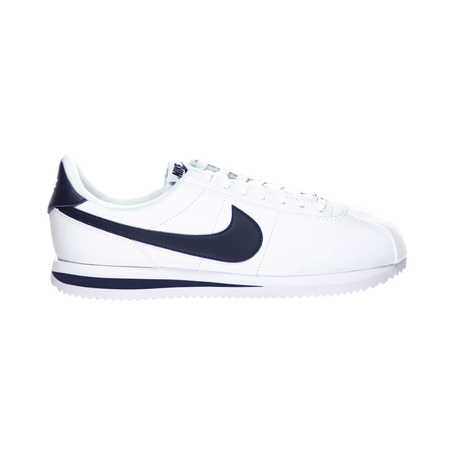 nike cortez white with blue check