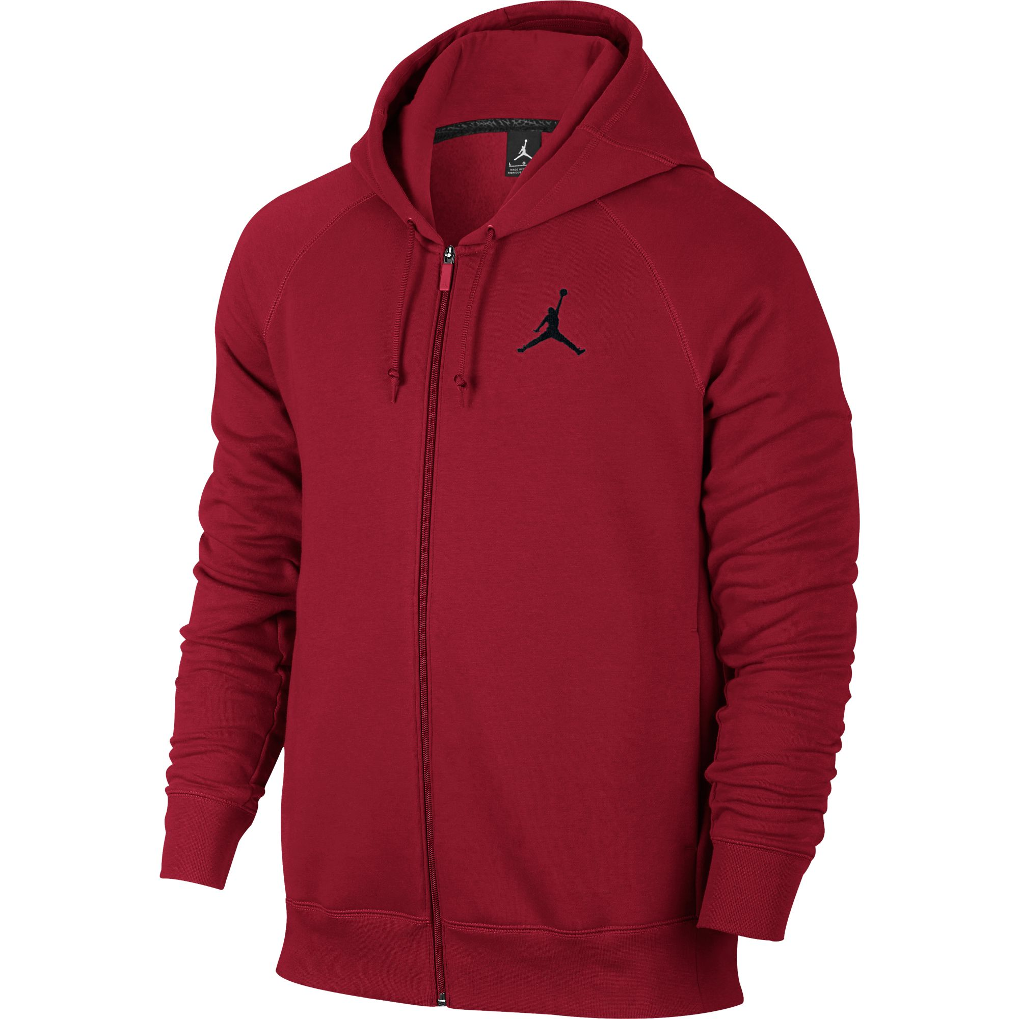 d6843b2b Michael Jordan Jordan Flight Men's Basketball Full Zip Hoodie Red/Black  823064-687 (