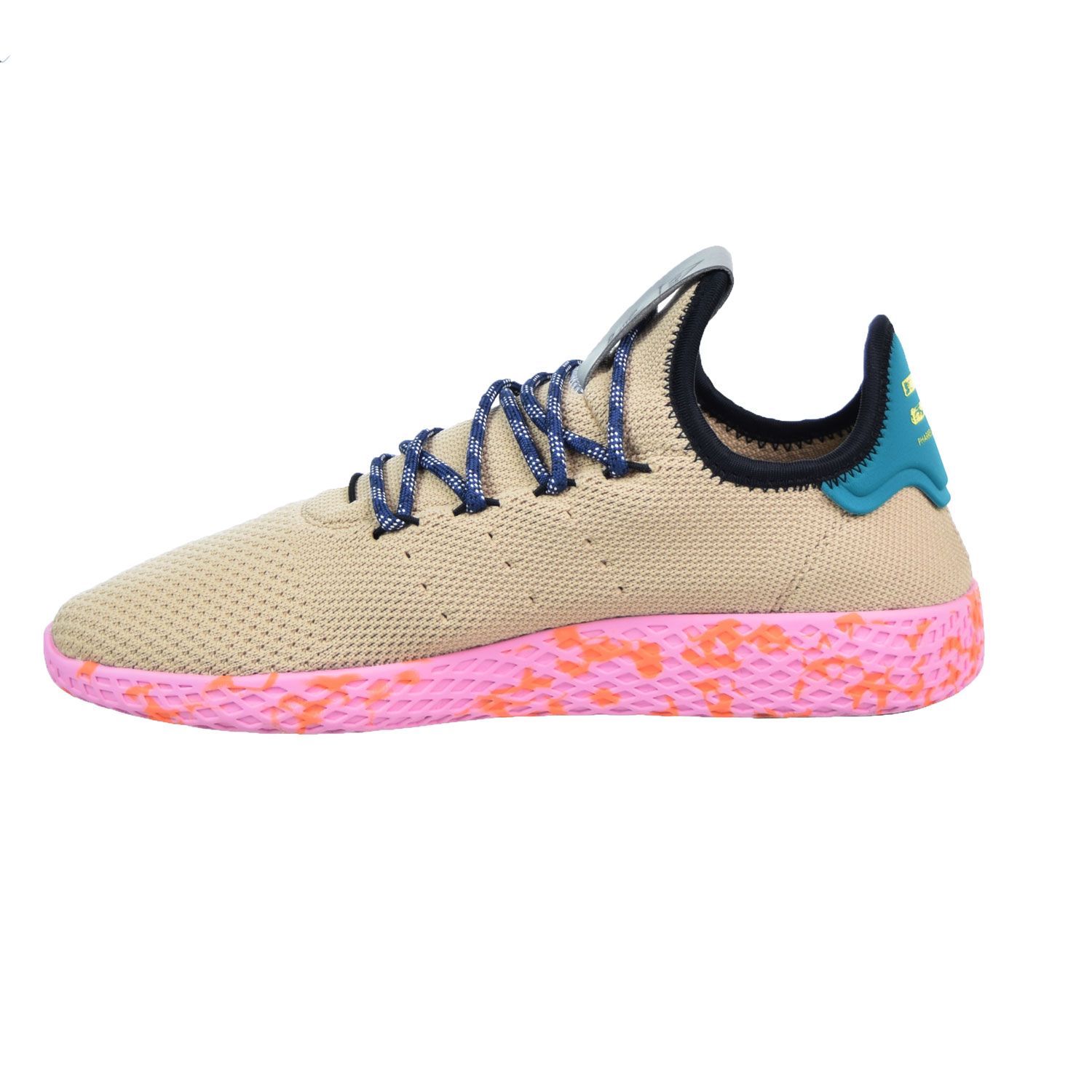 a96bb5fc4 Adidas Pharrell Williams Tennis HU Men s Shoes Tan Teal Pink Marble by2672