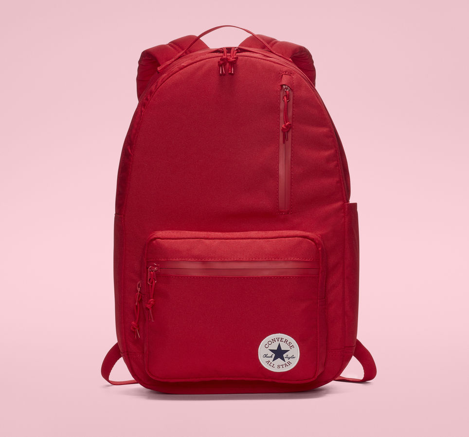 bb245efb252c8 Details about Converse Chuck Patch Go Unisex Backpack Enamel Red  10007271-603