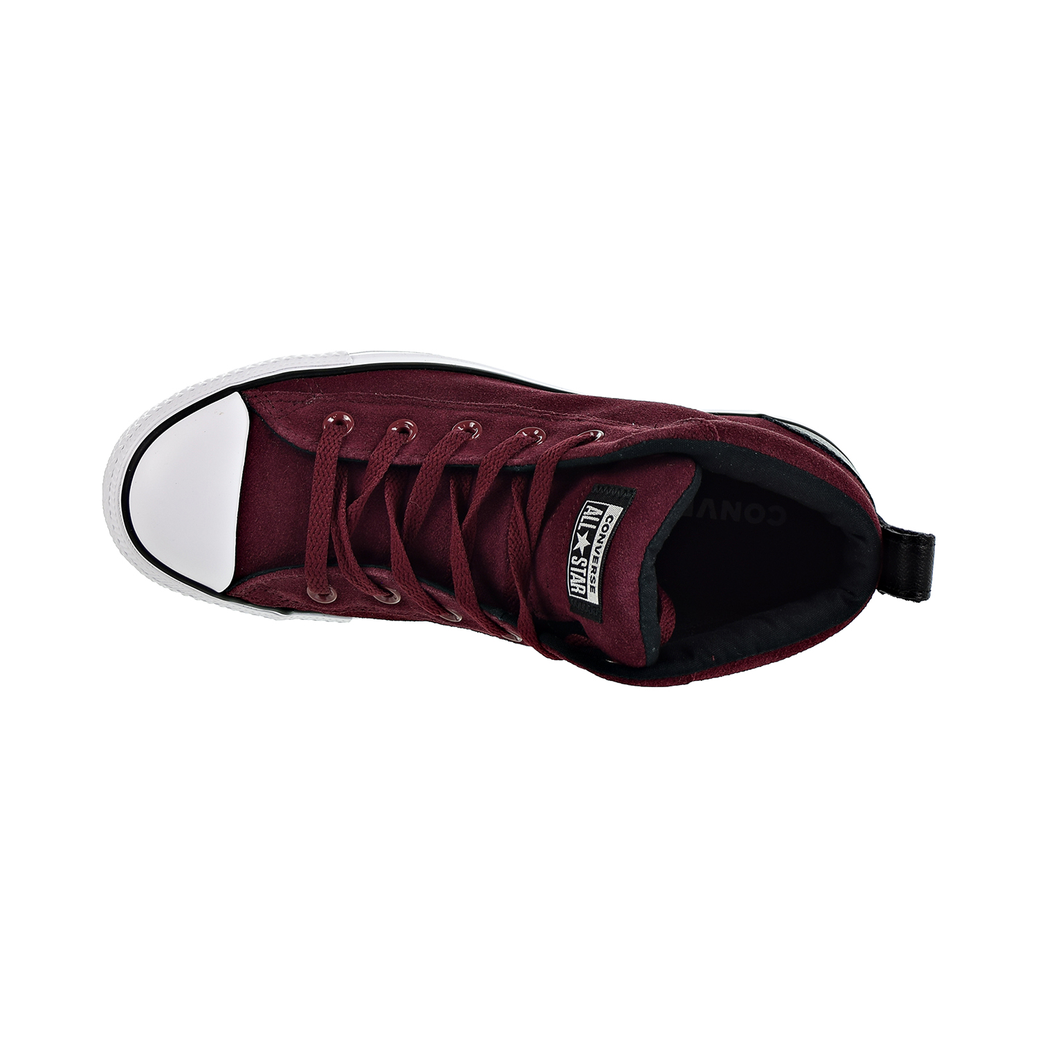 3822b1721995 Converse Chuck Taylor All Star Street Mid Unisex Shoes Dark Burgundy Black White  161467c