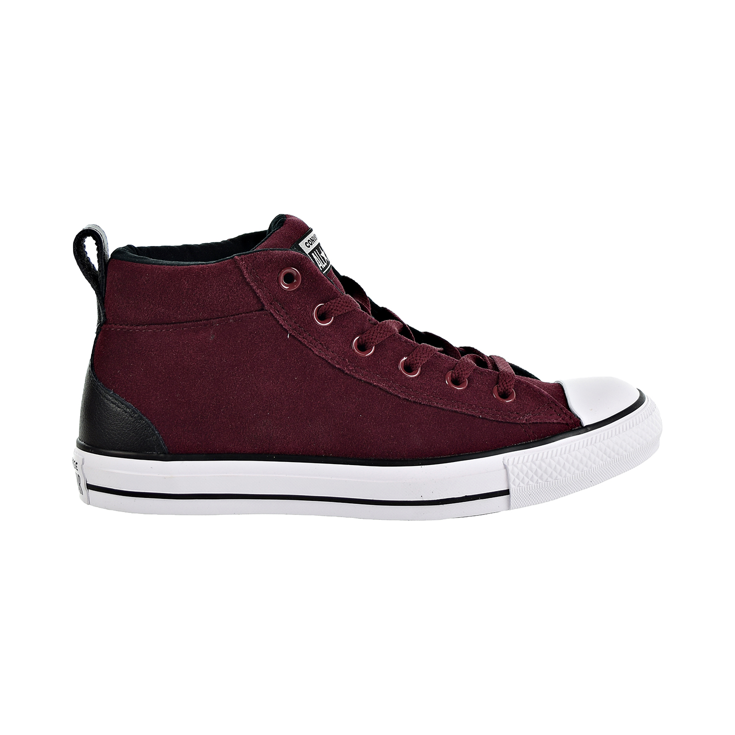 ba7a10e6a59caa Details about Converse Chuck Taylor All Star Street Mid Unisex Shoes  Burgundy White 161467c