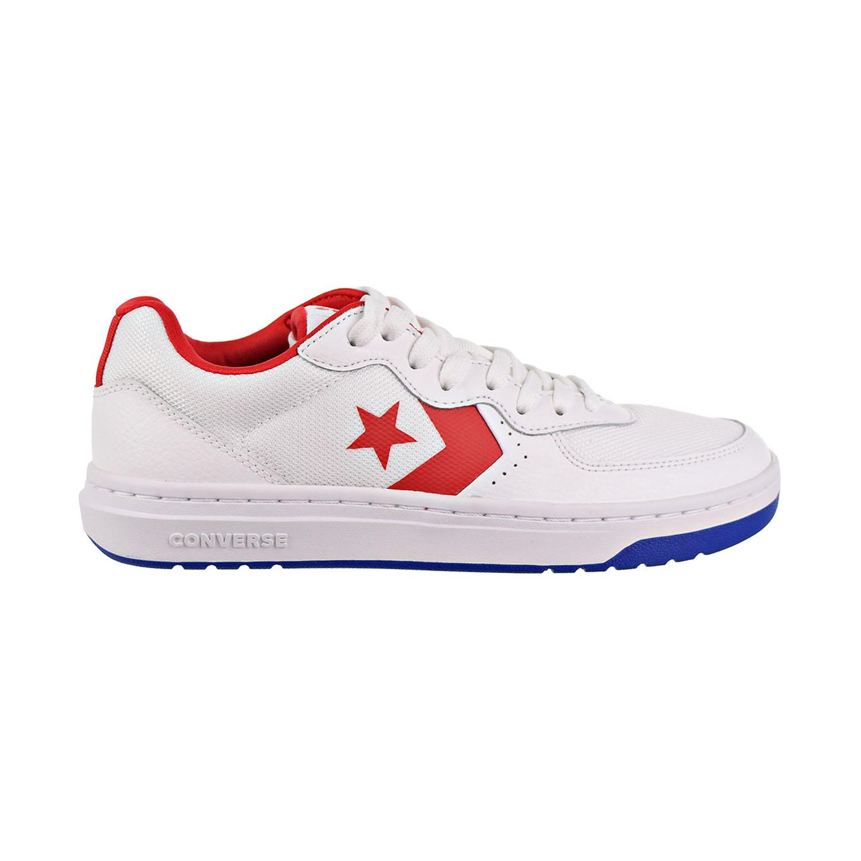 Shoes White-Enamel Red-Blue 163205C