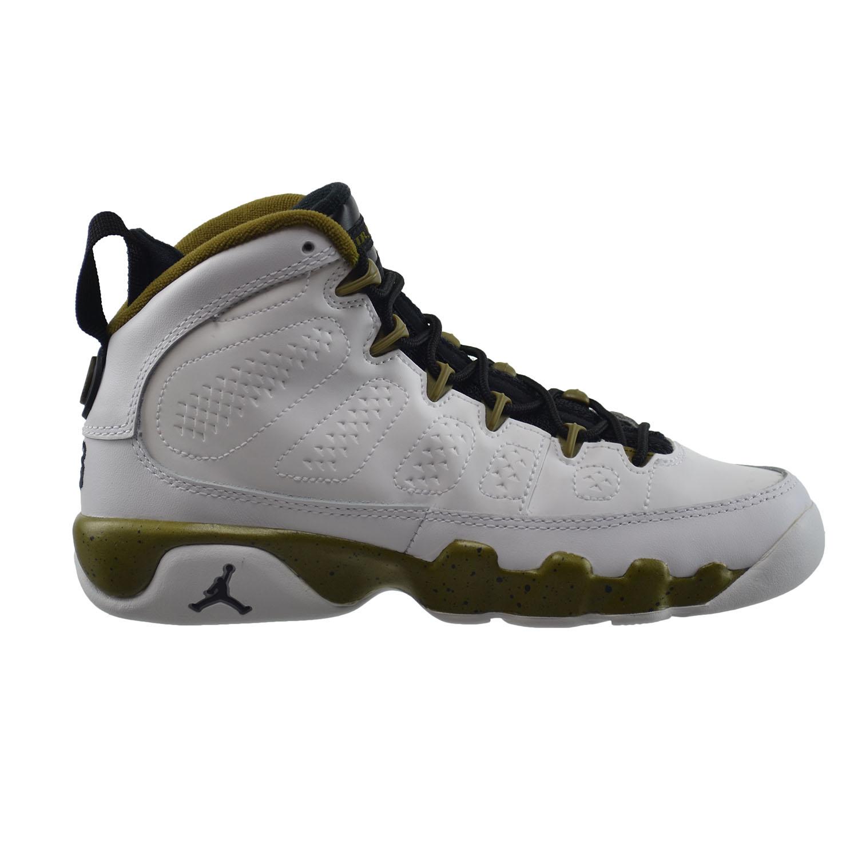 pretty nice cefa3 ed739 Details about Air Jordan 9 Retro BG Big Kids Basketball Shoes White Black-Green  302359-109