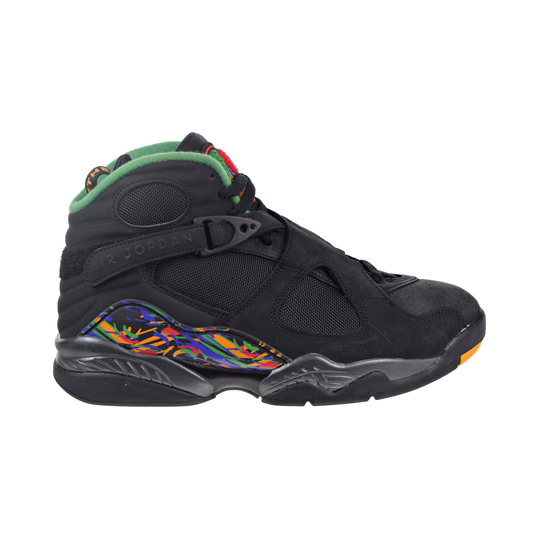 chaussures de sport 0f03d 0d95c Details about Jordan 8 Retro Men's Shoes Black/Light Concord/Aloe Verde  Noir 305381-004