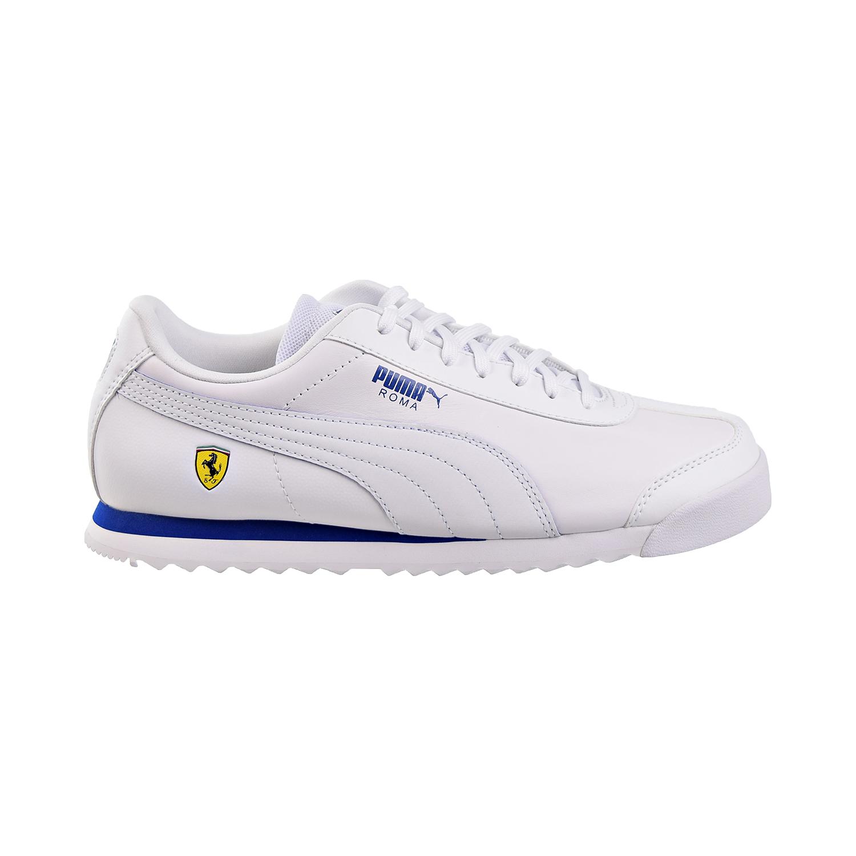 Details about Puma SF Roma Ferrari Mens Shoes White-Galaxy Blue 306083-11