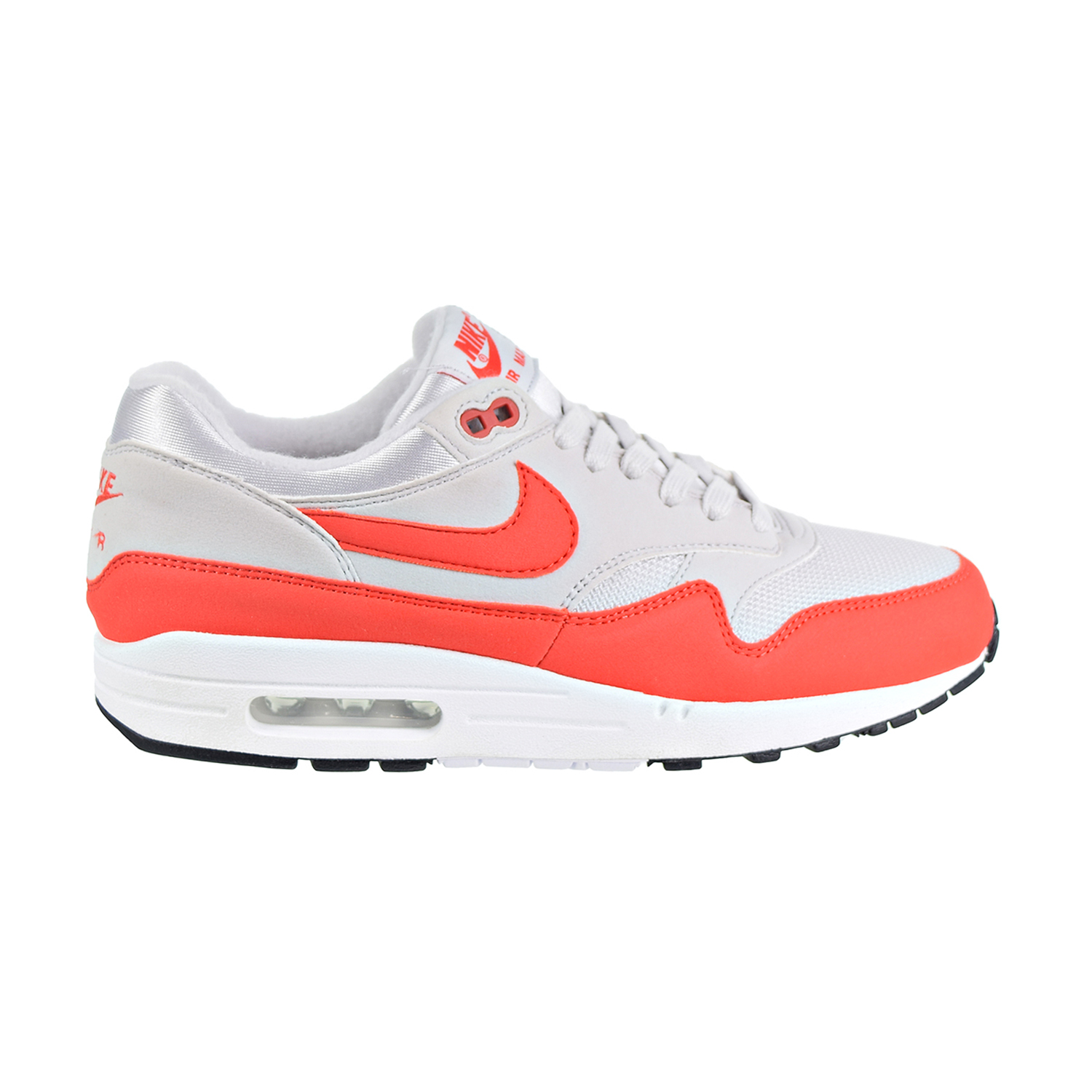 outlet store 390fa a10cd Details about Nike Air Max 1 Women s Shoes Vast Grey Habanero Red 319986-035