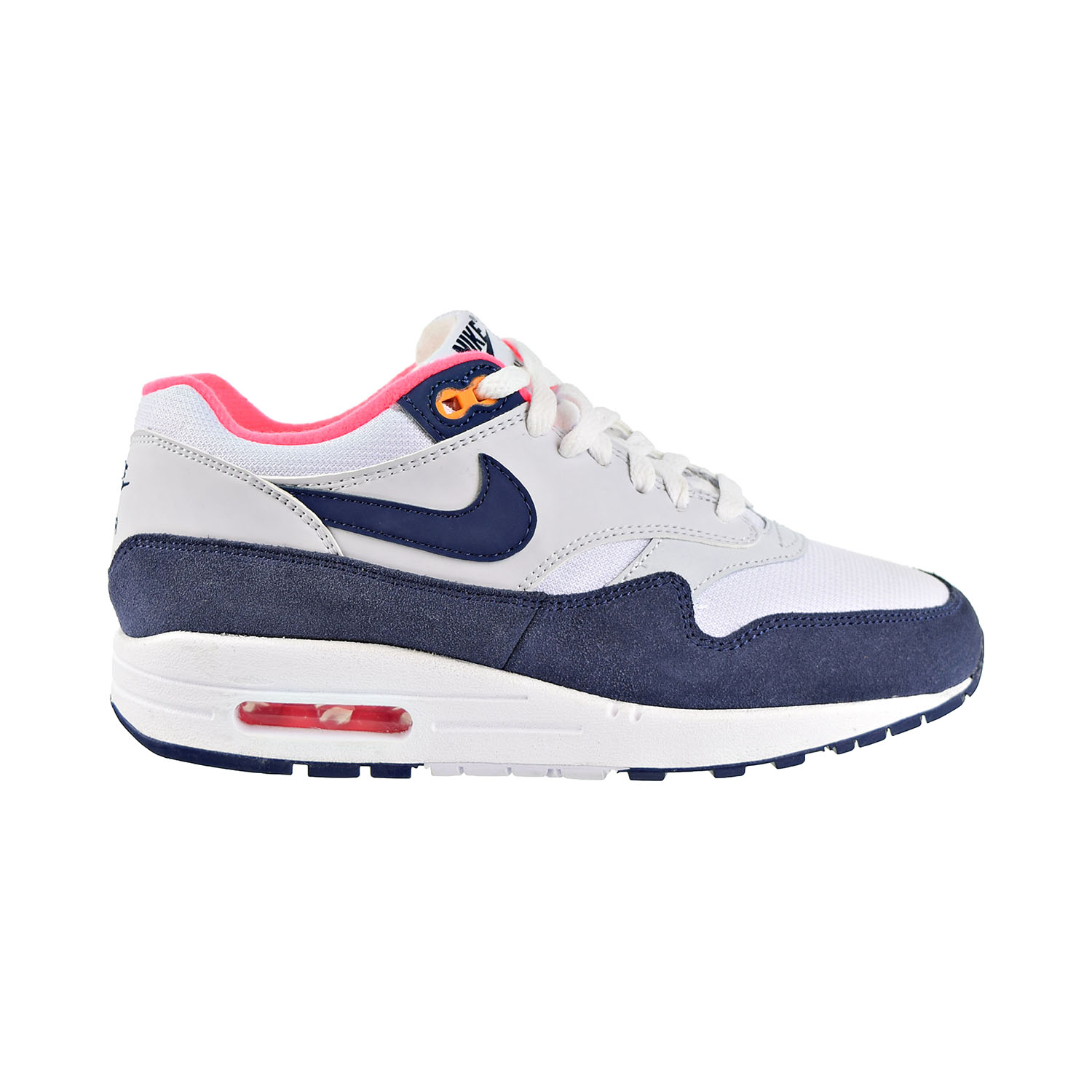 Nike Wmns Air Max 1 White Navy Pink Womens Running Shoes Sneakers 319986-116