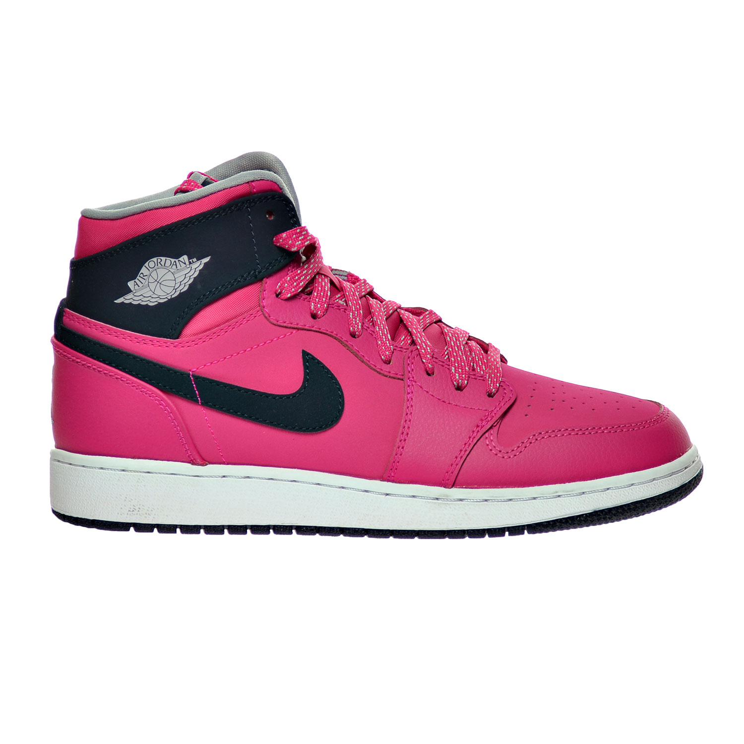 buy online 9096b f32d8 Details about Air Jordan 1 Retro High GG Big Kid's Shoes  Pink/Obsidian/Grey/White 332148-609