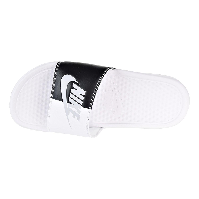 buy popular 06d18 b40ed Nike Benassi JDI Women s Slides White Pure Platinum Black 343881-105