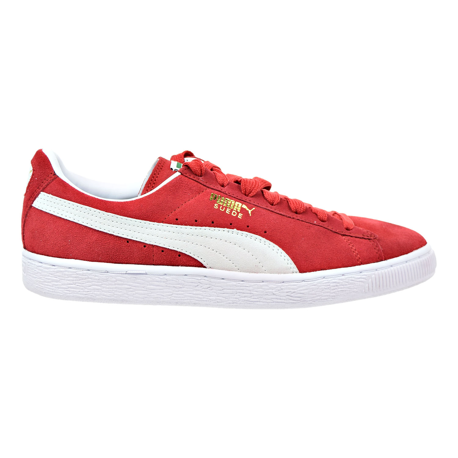 c5a798ae50b7f6 Details about Puma Suede Classic Men s Sneakers High Risk Red-White  352634-65