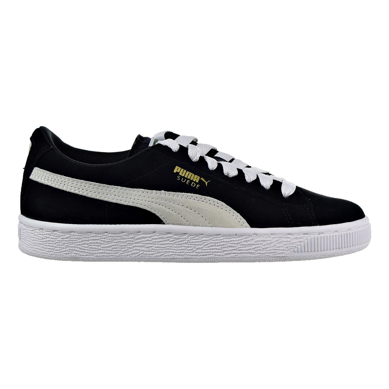 355110-01 Black//White PUMA Big Kids/' Suede Jr Shoes