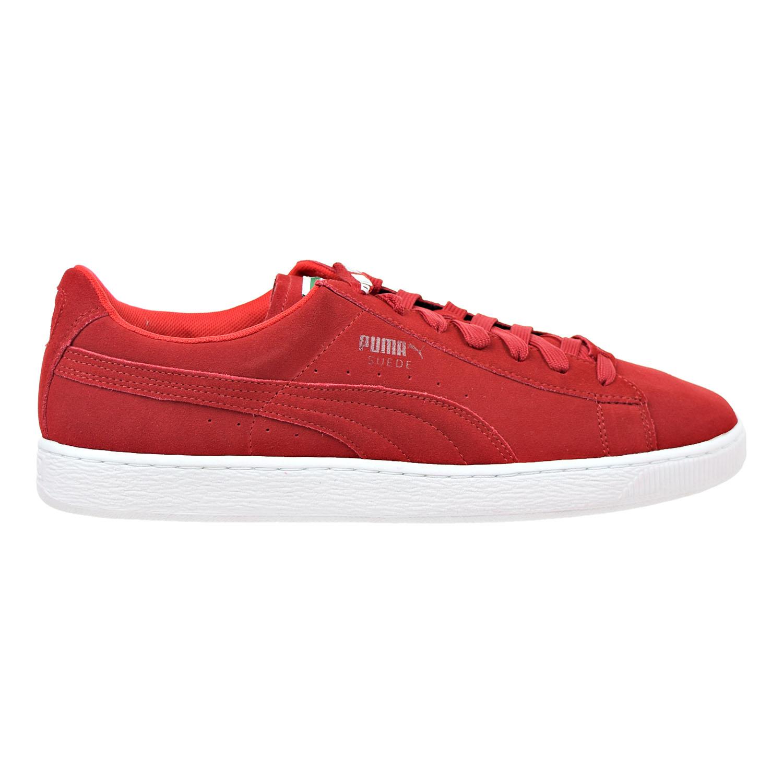 ba78c228de9c Details about Puma Suede X Trapstar Mens Shoes Barbados Cherry White  361500-02