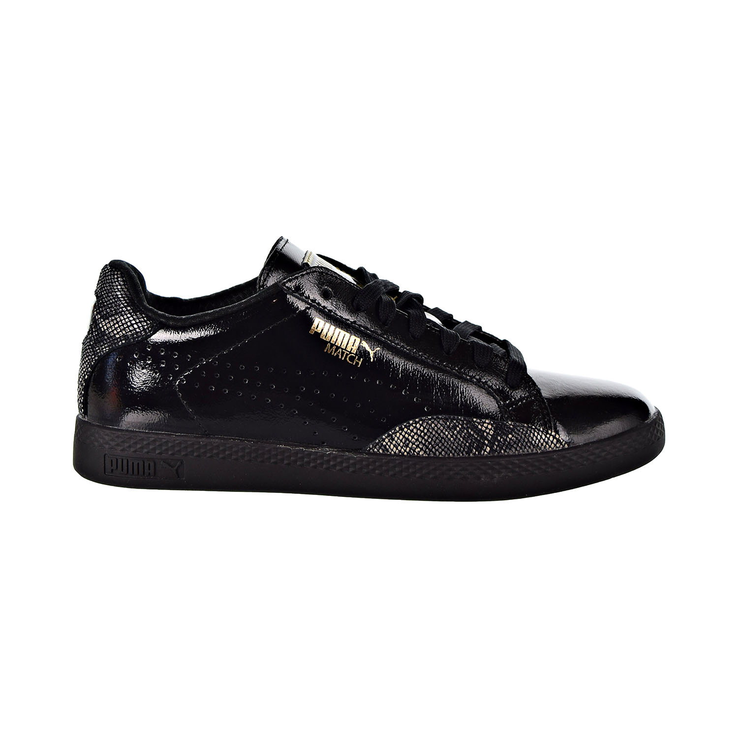 Details about Puma Match Lo Pnt Snake Women's Shoes Puma Black Gold 363047 02