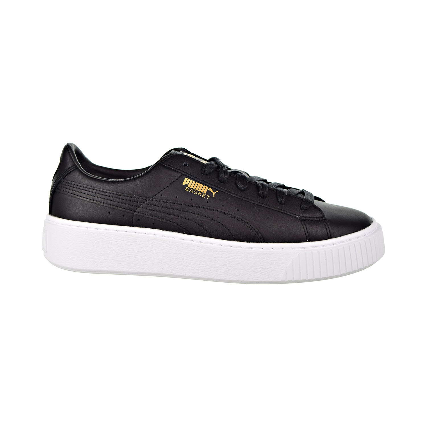 544df42a374 Details about Puma Basket Platform Core Women s Shoes Puma Black Gold  364040-03