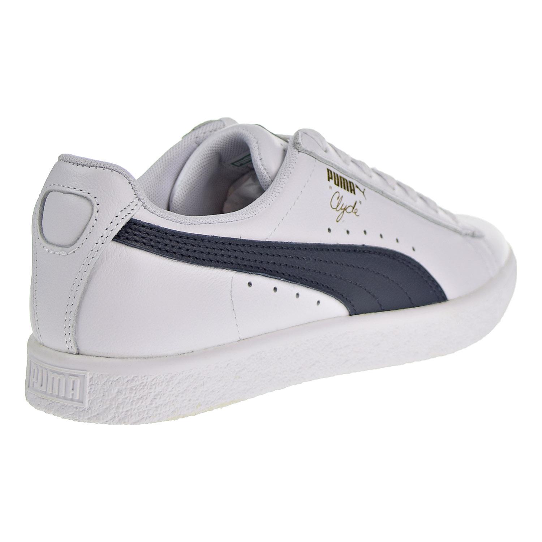 online store c6e92 54473 Puma Clyde Core Foil Women's Shoes White/Navy/Team Gold ...