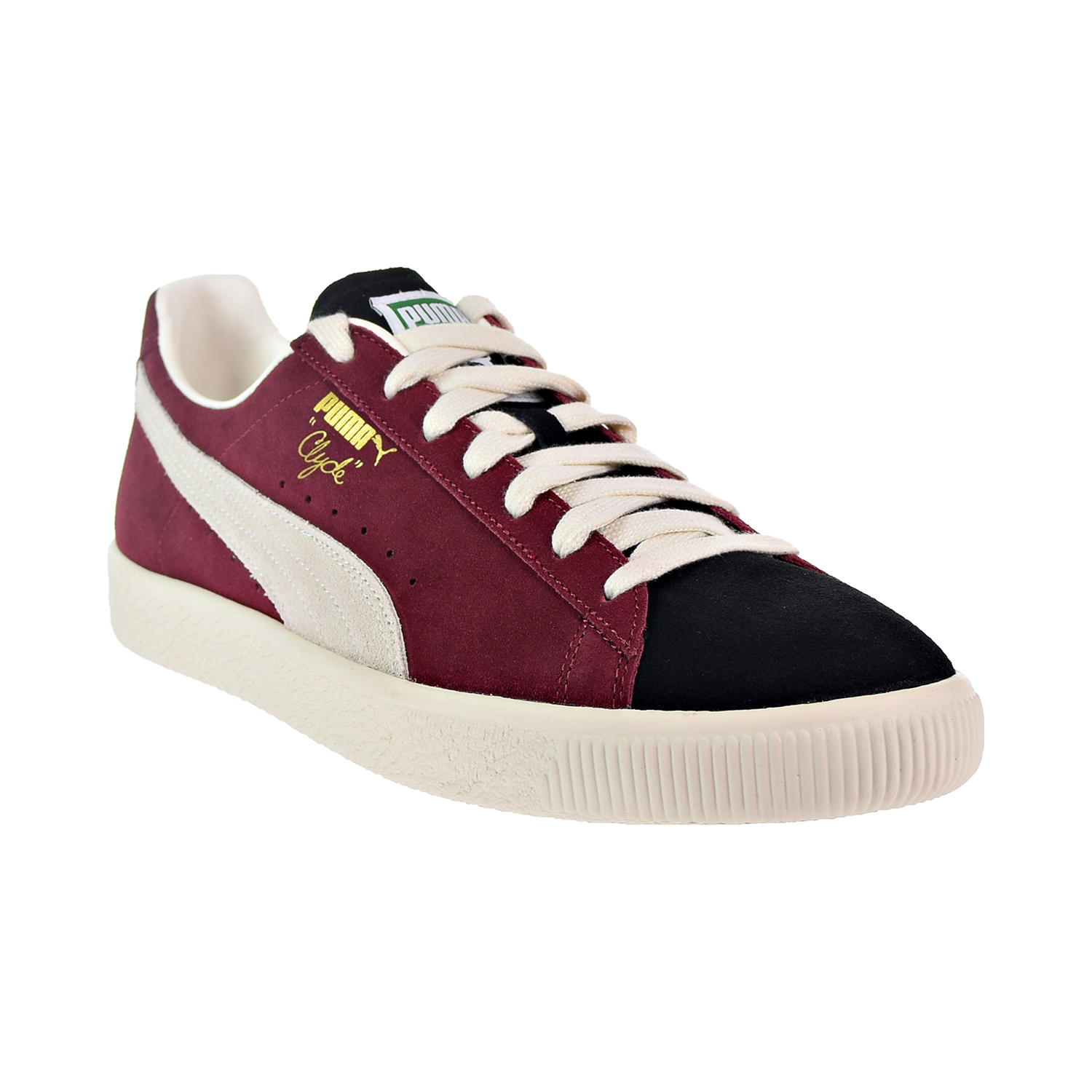 8f19ed643e8 Puma Clyde From The Archive Men s Shoes Black Cordovan Whisper White  365319-04