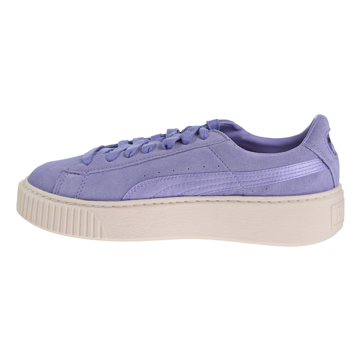 Puma Suede Platform Mono Satin Women's Shoes Lavender Whisper Gold 365828 01 | eBay