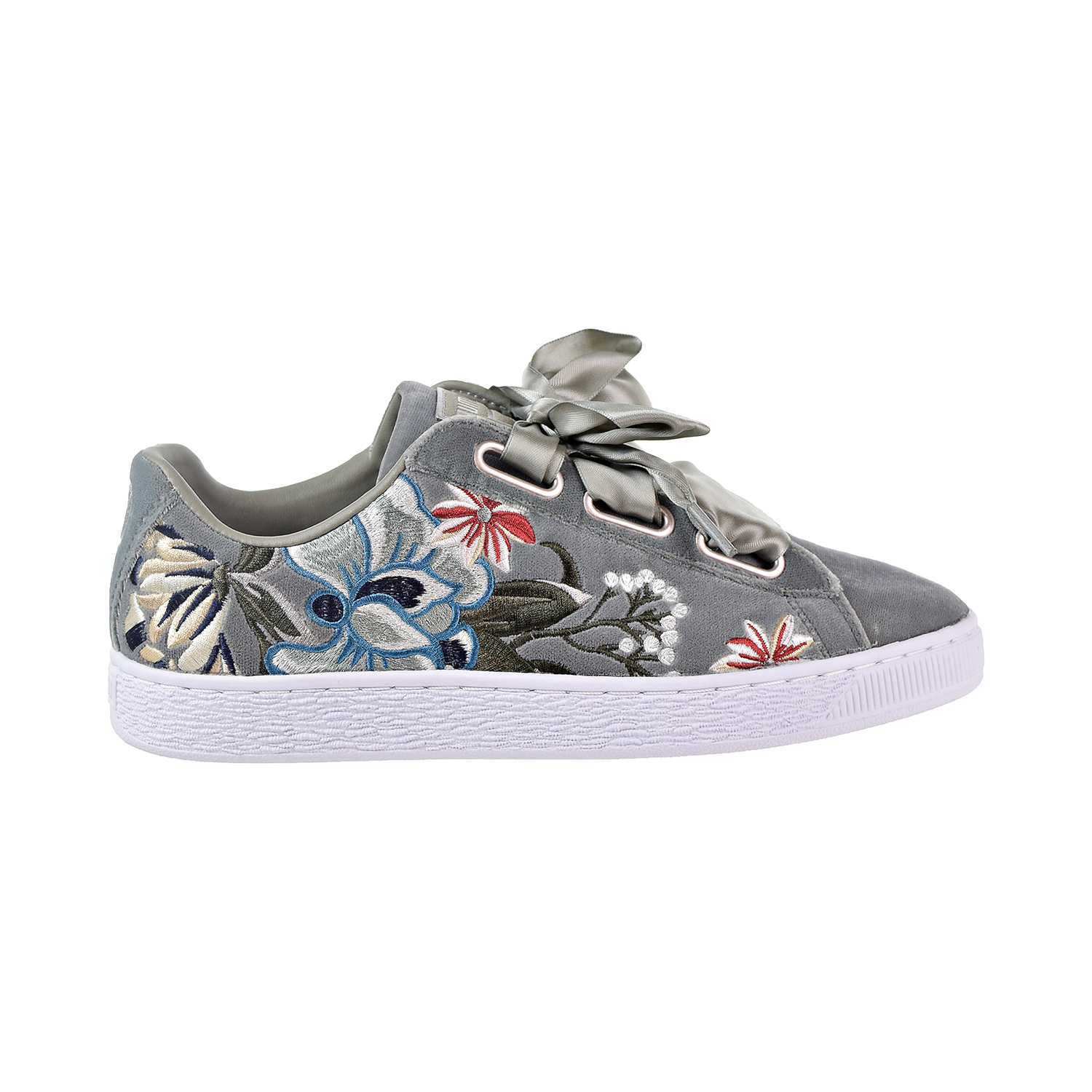 pretty nice a65d0 91a2b Details about Puma Basket Heart Hyper Embroidery Women's Shoes Rock Ridge  366116-03