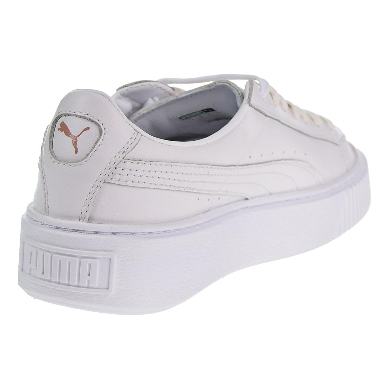 dda6597af23a Puma Basket Platform Metallic Women s Shoes White Rose Gold 366169 ...