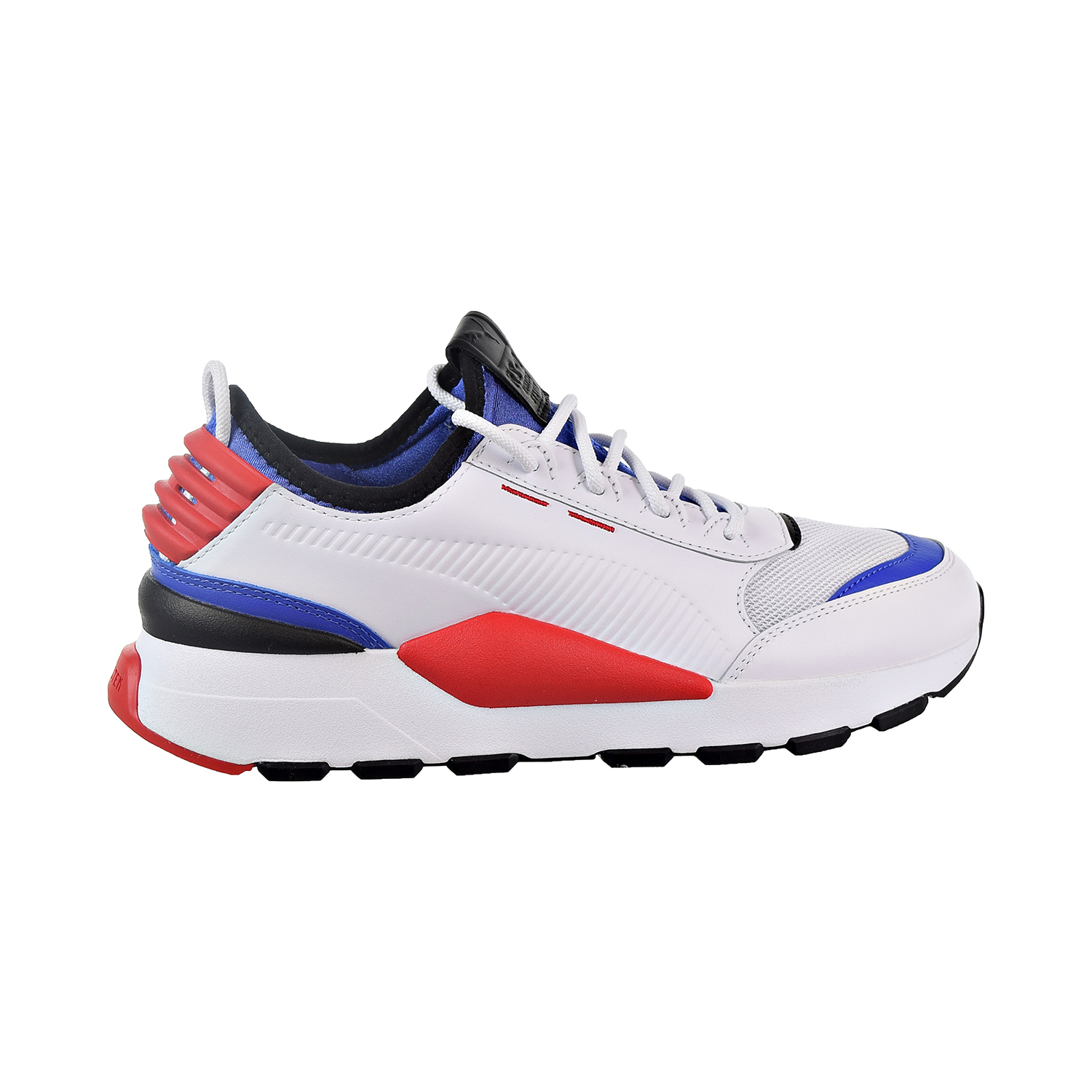 d7ddce70596f41 Details about Puma RS-0 Sound Men s Shoes White Dazz Blue High Risk Red  366890-01