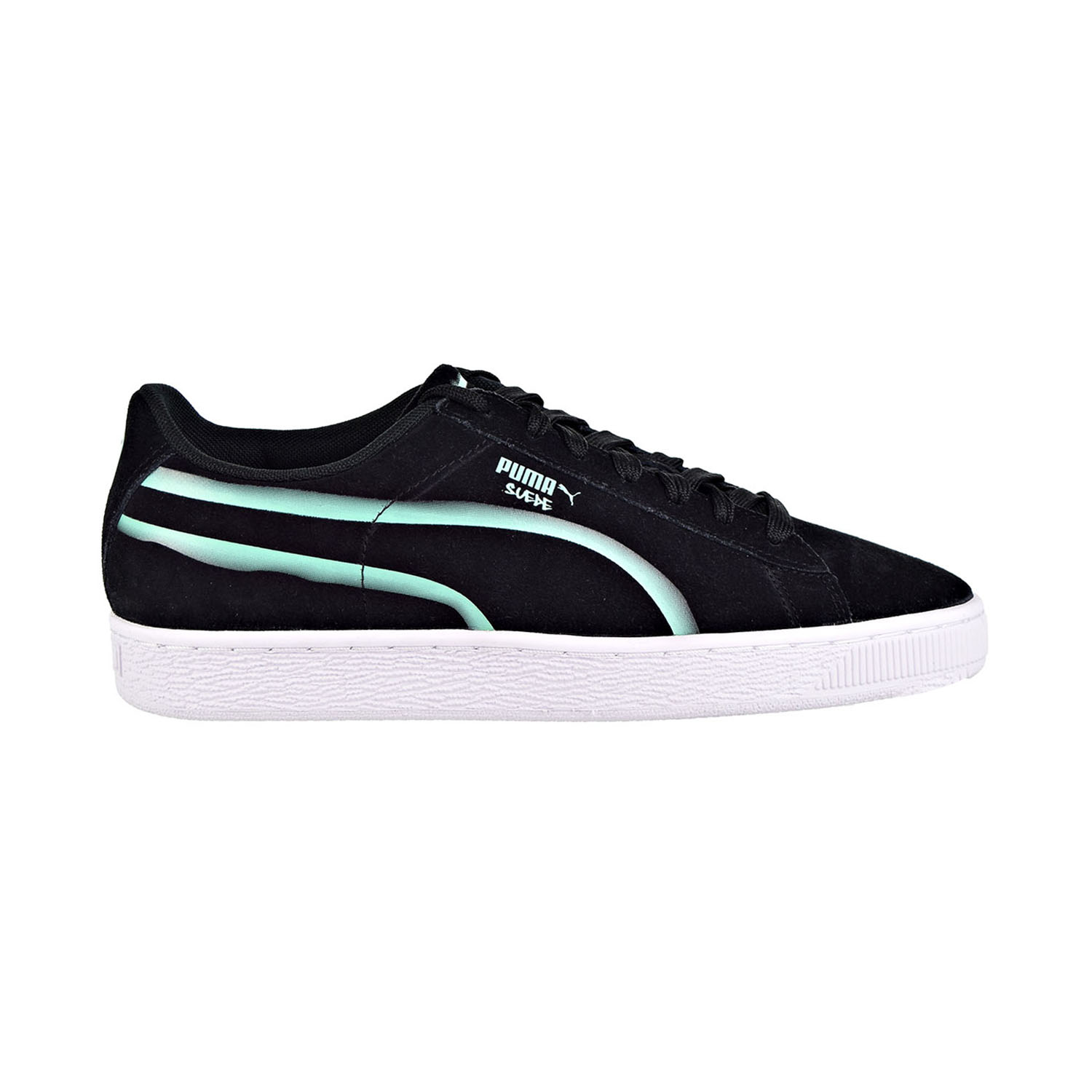 Details about Puma Suede Classic X Hollows Men's Shoes Puma Black/Biscay  Green 367394-01