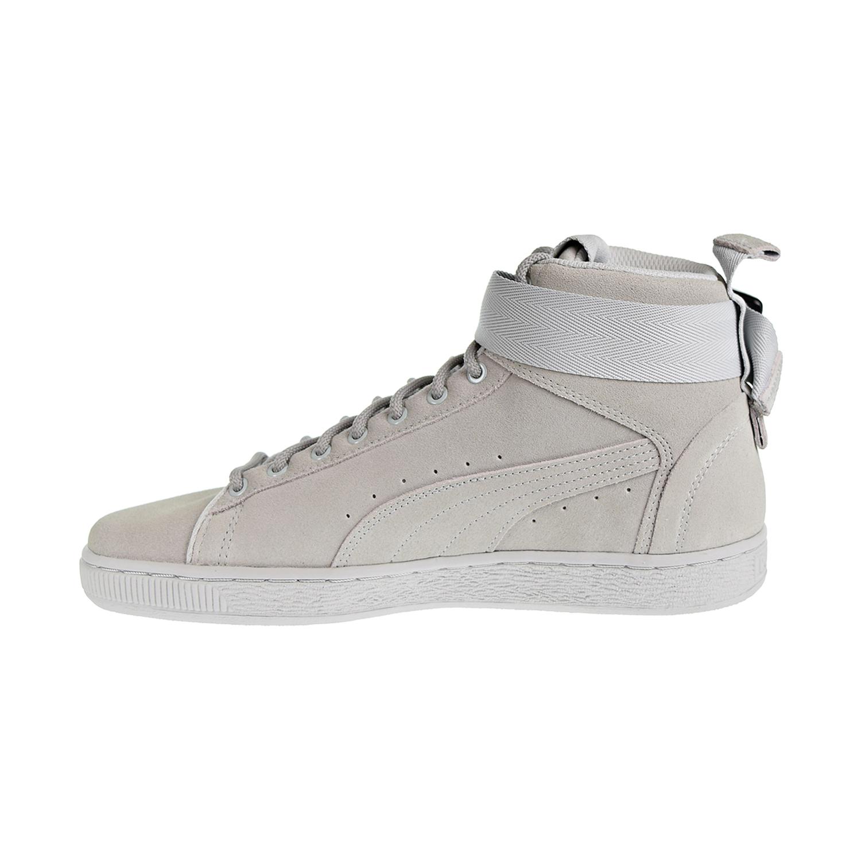 d4b9fbcaefae9 Puma Suede Classic Mid Buckle Men's Shoes Glacier Grey 367712-02   eBay