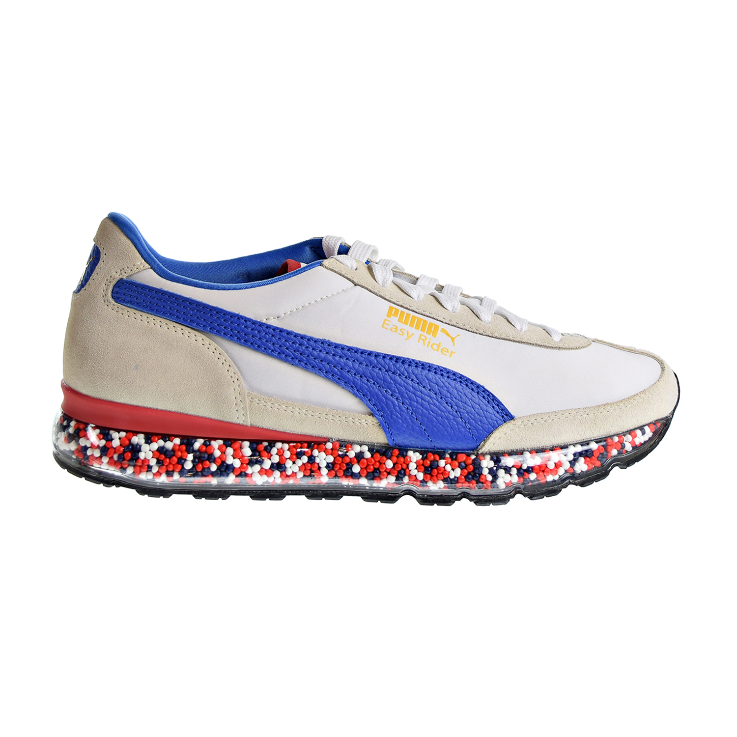 Details about Puma Jamming Easy Rider Men's Shoes Whisper White-Strong Blue  367832-04