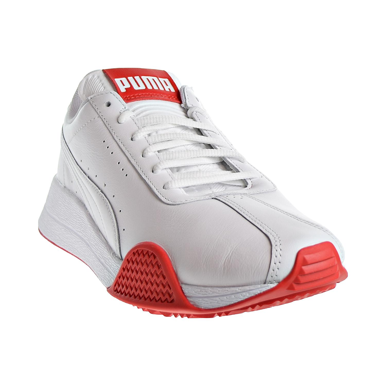 Puma Turin 0 Leather Men  039 s Shoes Puma White High Risk Red 367858-01 8a8cb54af