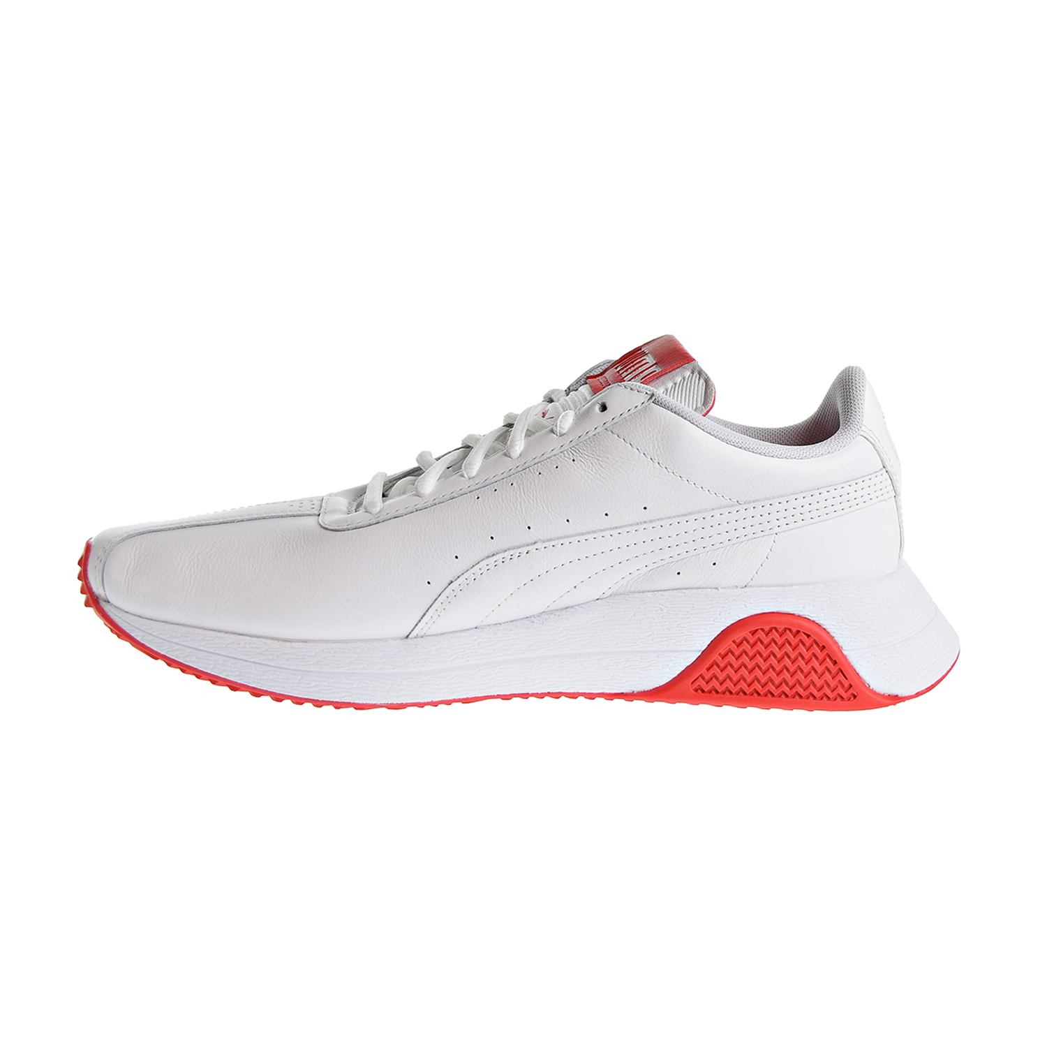 eab3ef33e2f428 Details about Puma Turin 0 Leather Men s Shoes Puma White High Risk Red  367858-01