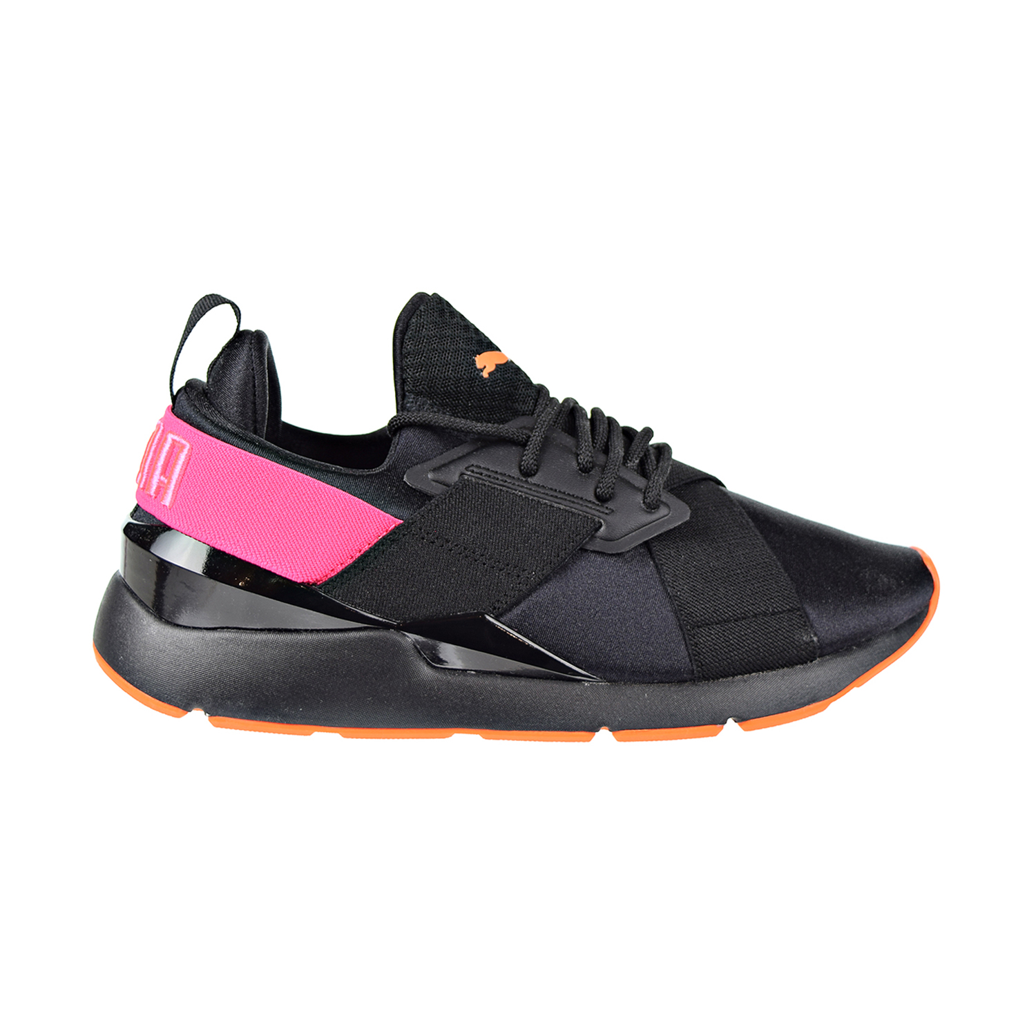 Details about Puma Muse Chase Big Kids Shoes Puma Black Knockout Pink 368036 01