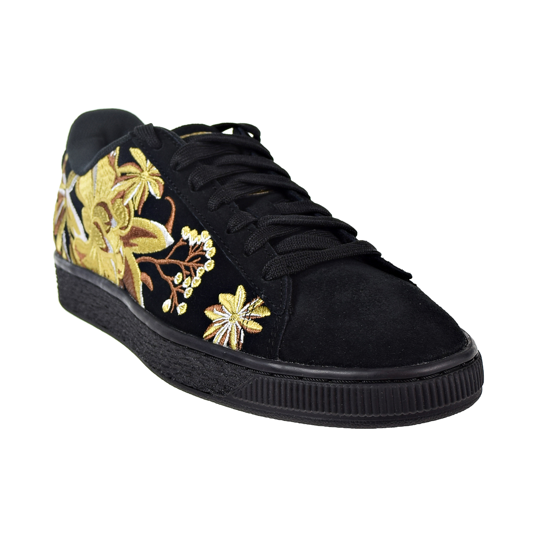 dd79bae8d7bf Puma Suede Hyper Emb Women s Shoes Puma Black Puma Team Gold 368137 ...