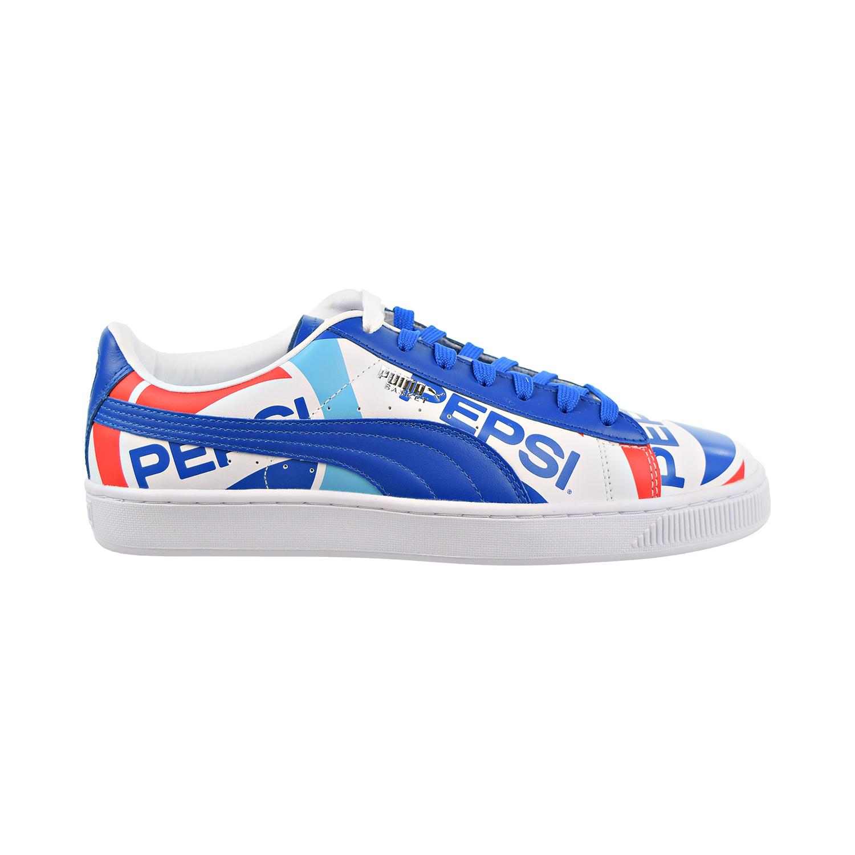 Details about Puma Basket X Pepsi Mens Shoes Clean Blue Puma White 368345 01