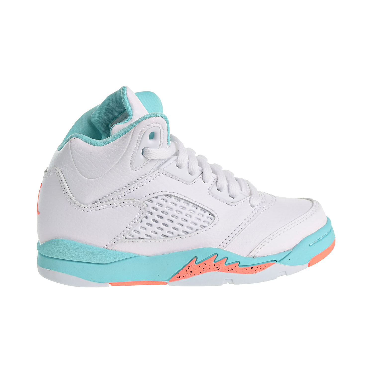 finest selection 4f1cf 6c34b Details about Jordan 5 Retro GP Little Kid's Shoes White/Crimson  Pulse/Light Aqua 440893-100