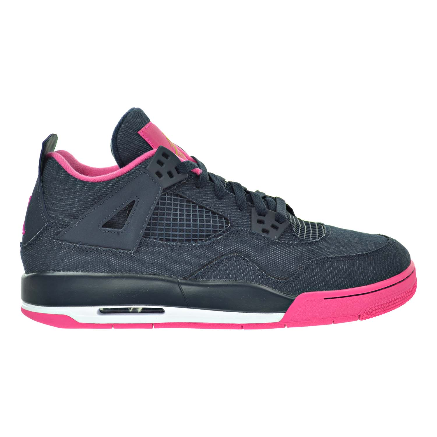 eed981f72bc Details about Air Jordan 4 Retro GG Big Kid's Shoes Dark  Obsidian/Gold/Pink/White 487724-408