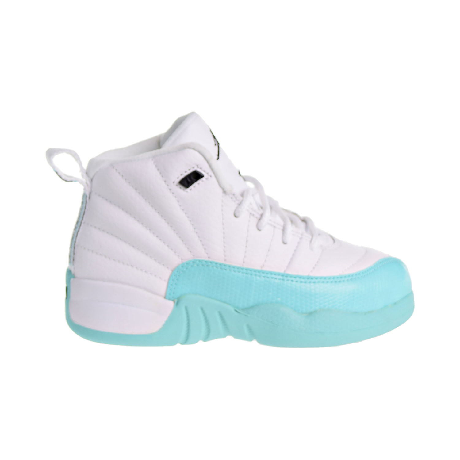 new arrival 06999 c2116 Details about Jordan 12 Retro Little Kid's Shoes White/Black/Light Aqua  510816-100