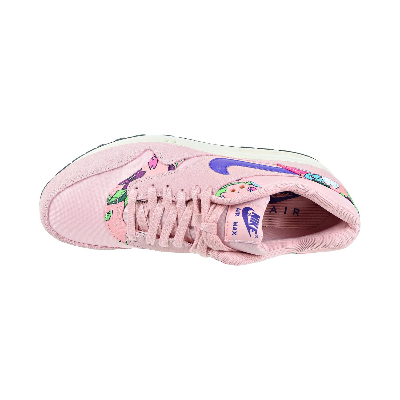 7168e6c98ff76 Nike Air Max 1 Print 'Aloha' Women's Shoes Pink Glaze/Varsity Purple 528898 -601