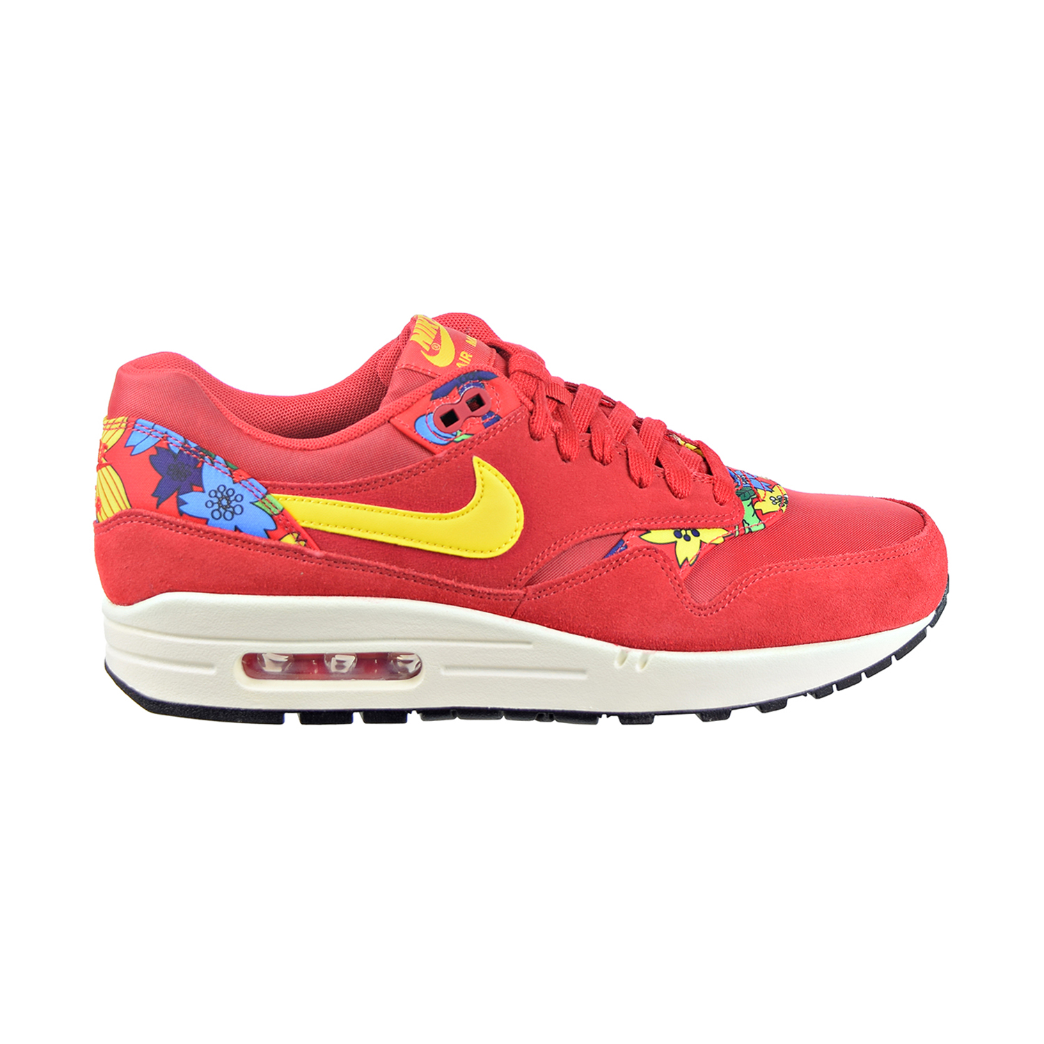 Nike Air Max 1 Print  Aloha  Women s Shoes University Red True  Yellow Silver Black 528898-602 bc62061e9c