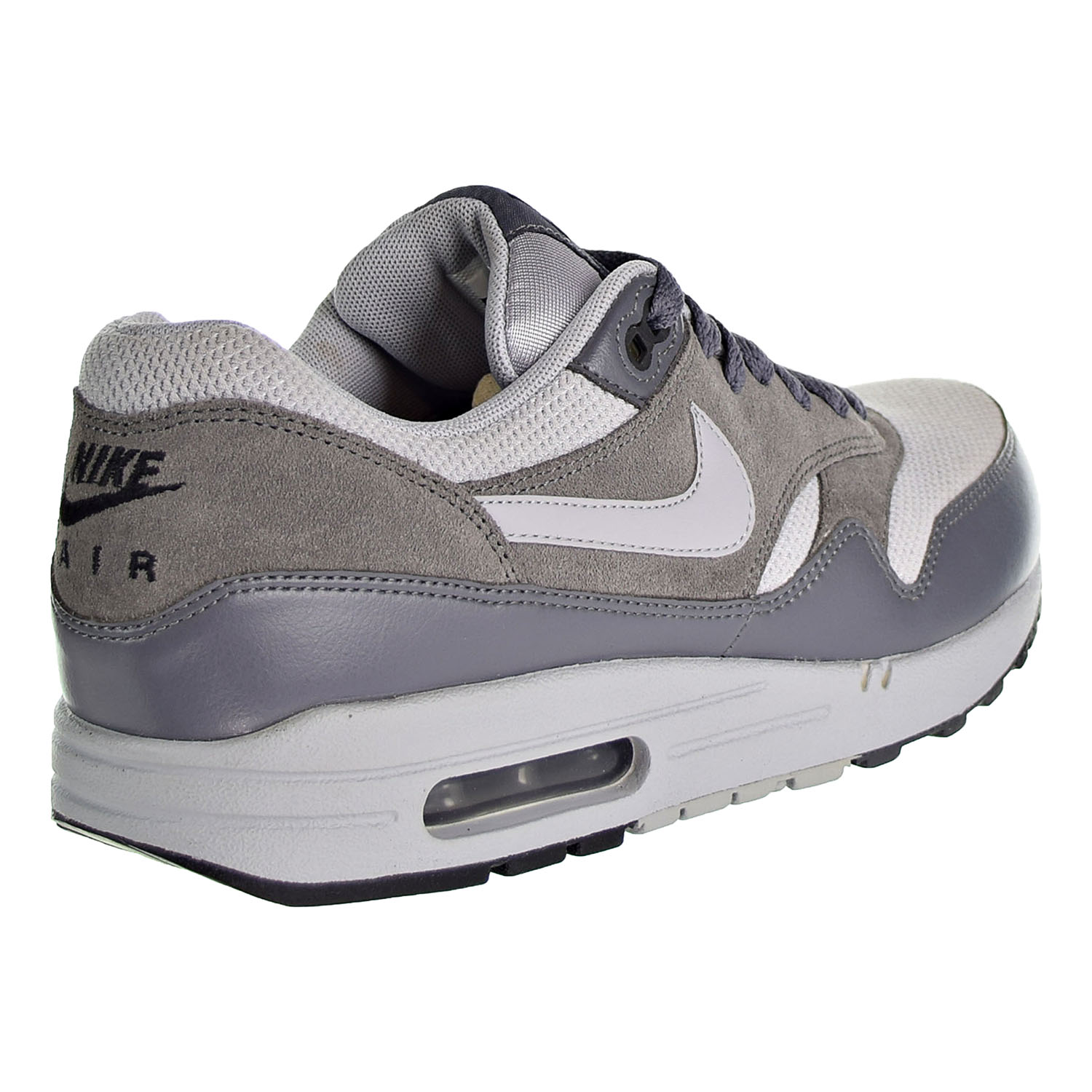 Details about Nike Air Max 1 Essential Men's Running Shoes Wolf Grey Dark Grey 537383 019