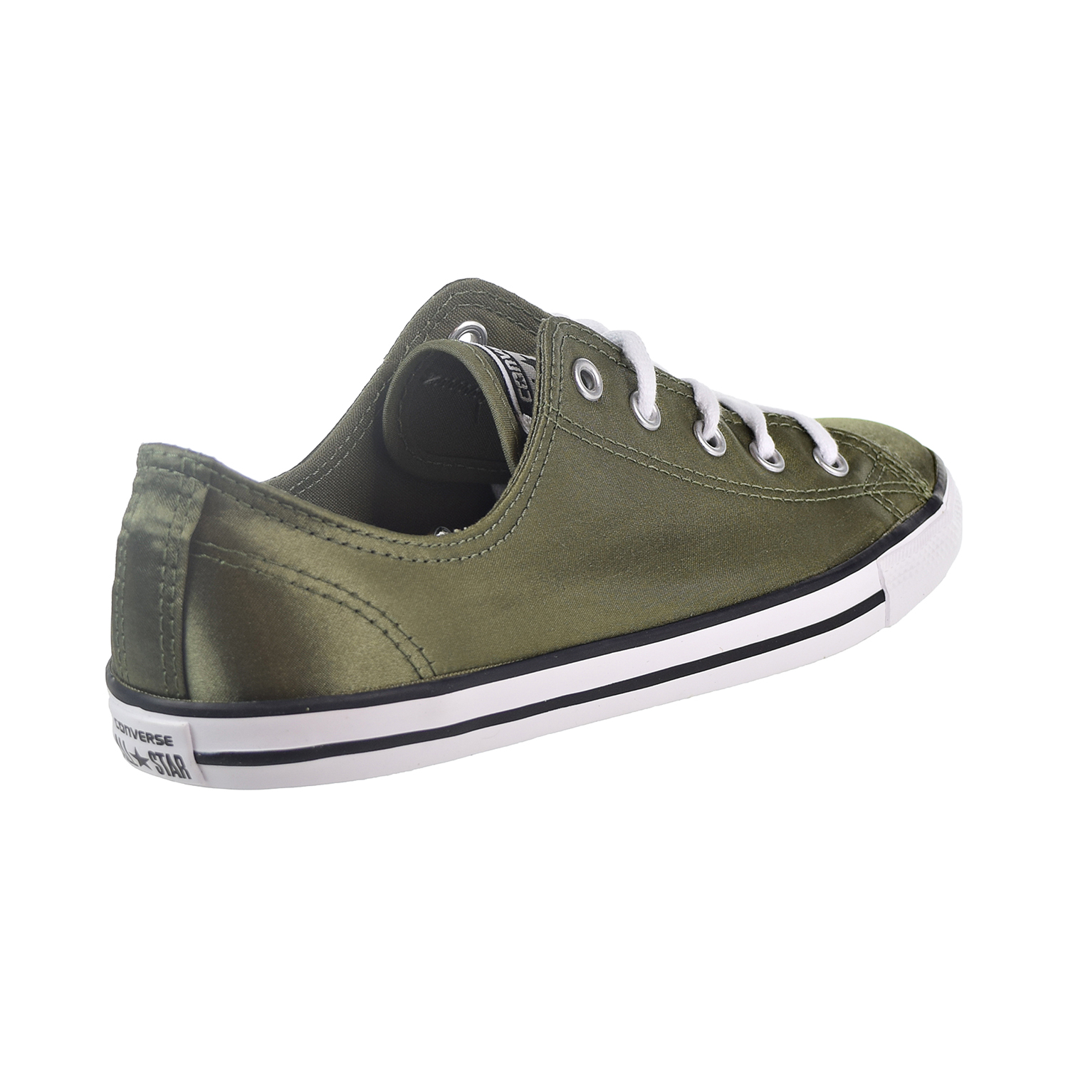 2271858eec55 Converse Chuck Taylor All Star Dainty OX Women s Shoes Medium Olive White  Black 557976f