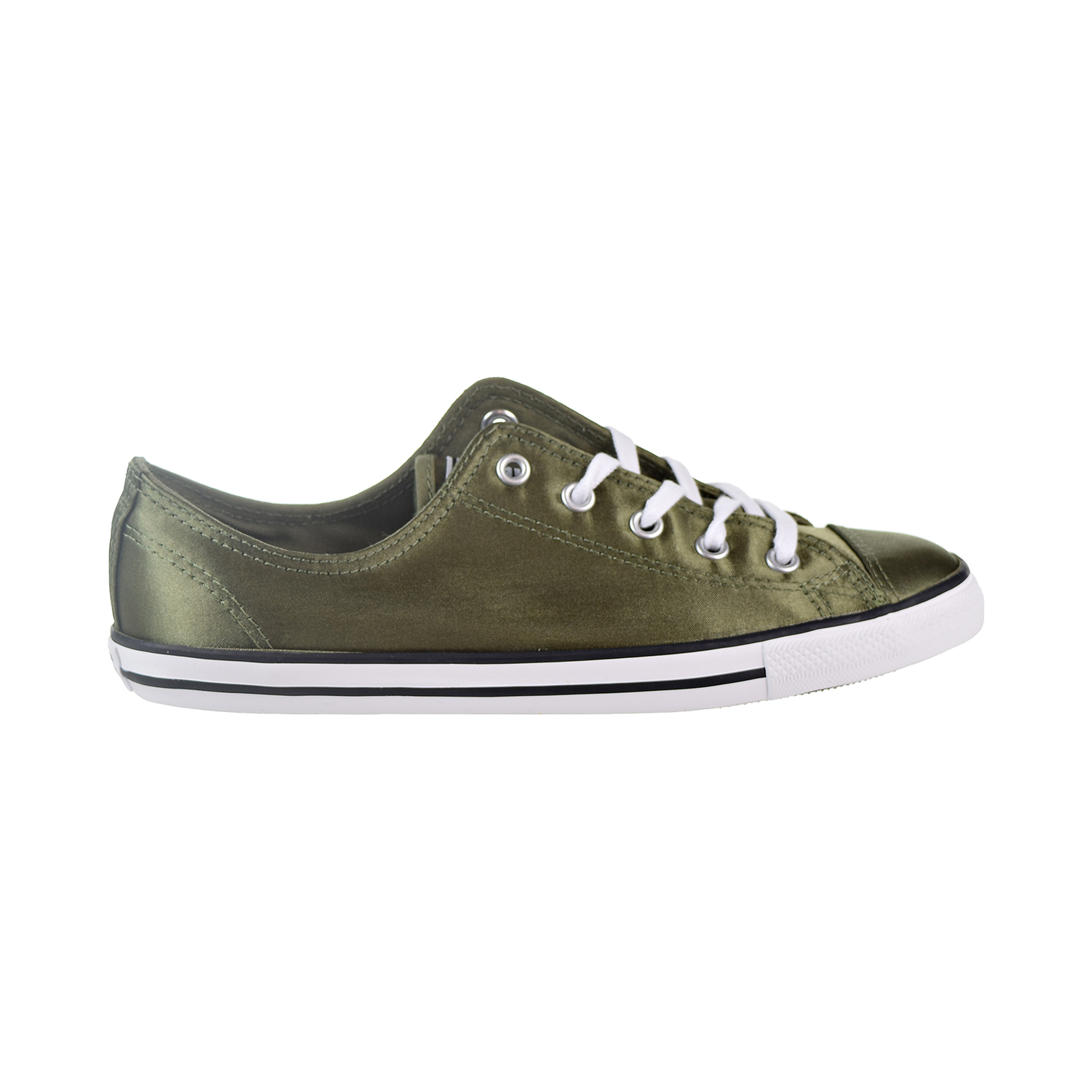9ec75e8281c51d Details about Converse Chuck Taylor All Star Dainty OX Women s Shoes Medium  Olive White557976F