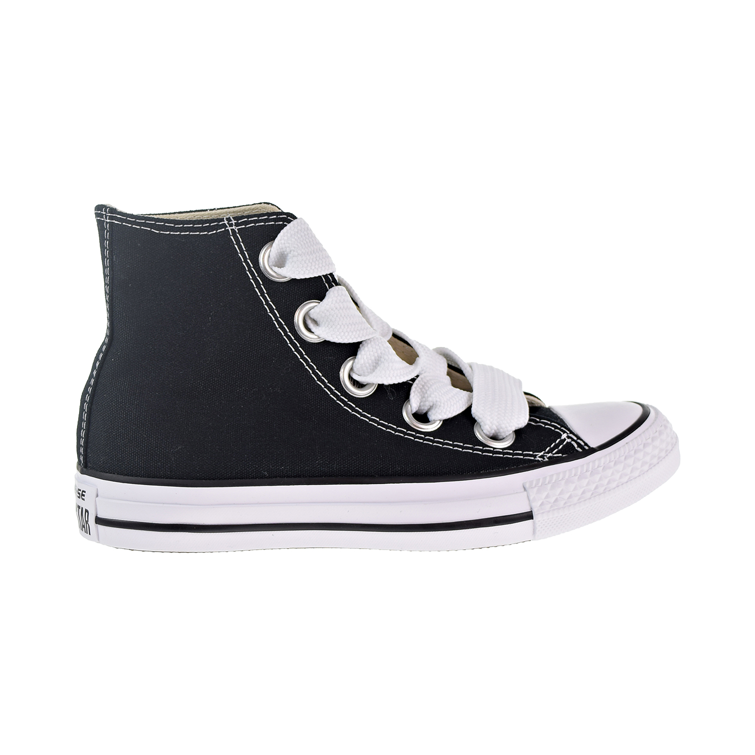 7cd4a91eec33 Details about Converse Chuck Taylor All Star Big Eyelets Hi Women s Shoes  Black White 559934c