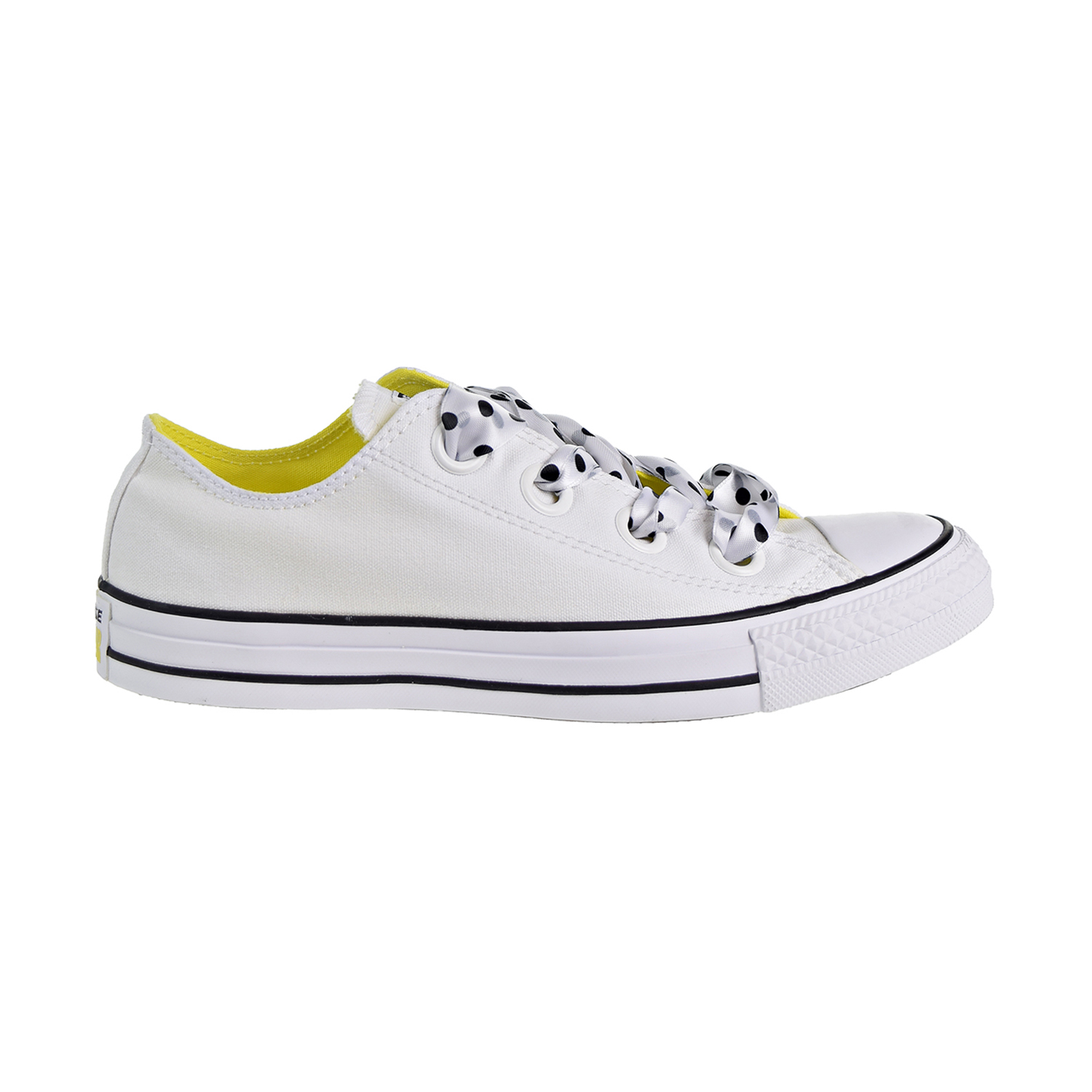 159b443cb844 Converse Chuck Taylor All Star Big Eyelets OX Women s Shoes White Yellow  Black 560670c