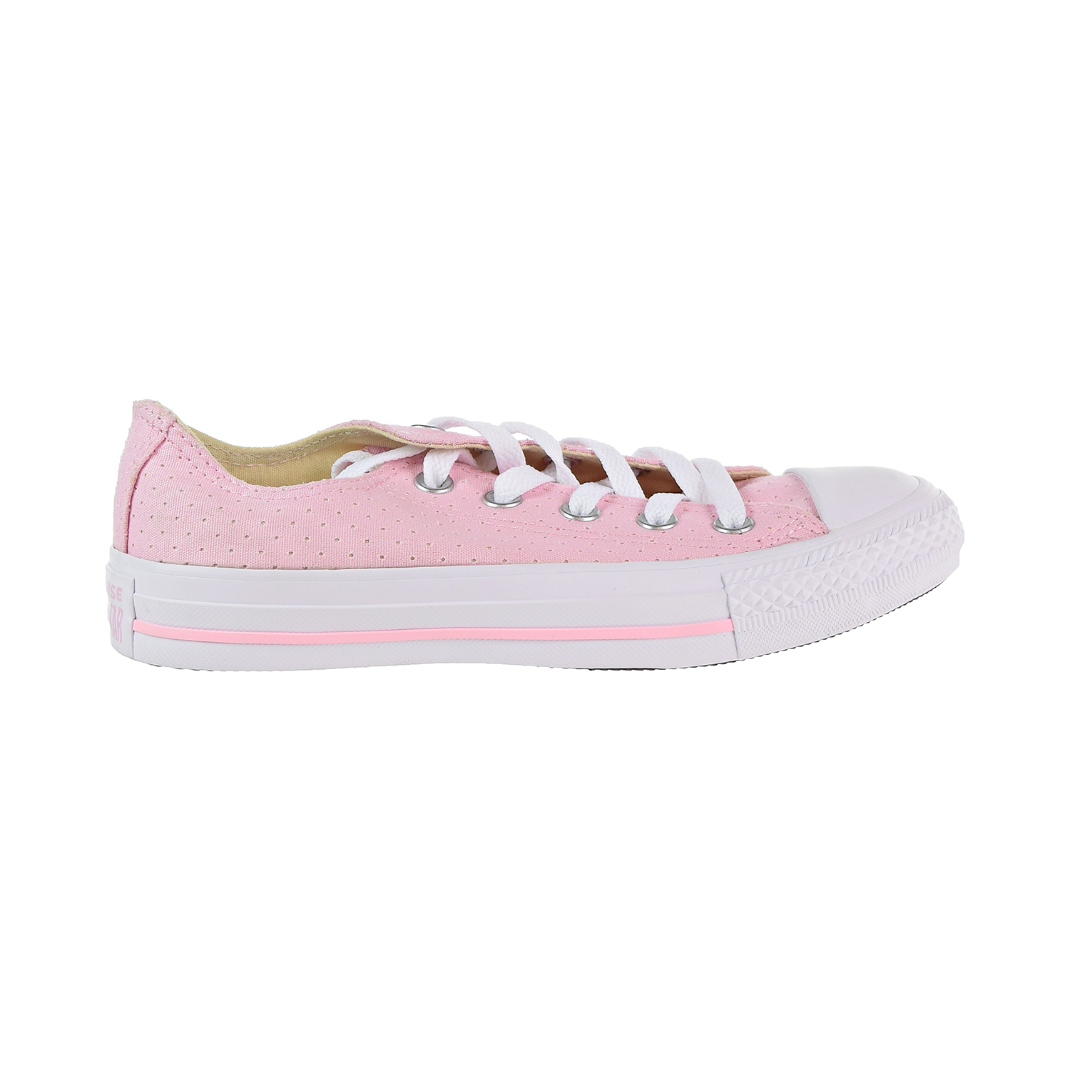 33fdbb48d9d2c5 Converse Chuck Taylor All Star Ox Perforated Women s Shoes Cherry  Blossom White 560680c