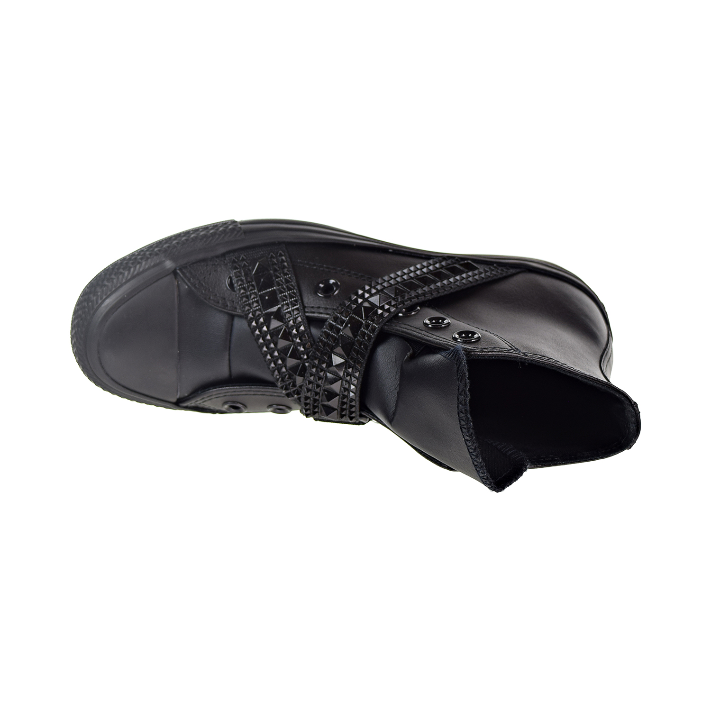 a9d648adeaf Converse Chuck Taylor All Star Punk Strap Hi Women s Shoes Black 562430c