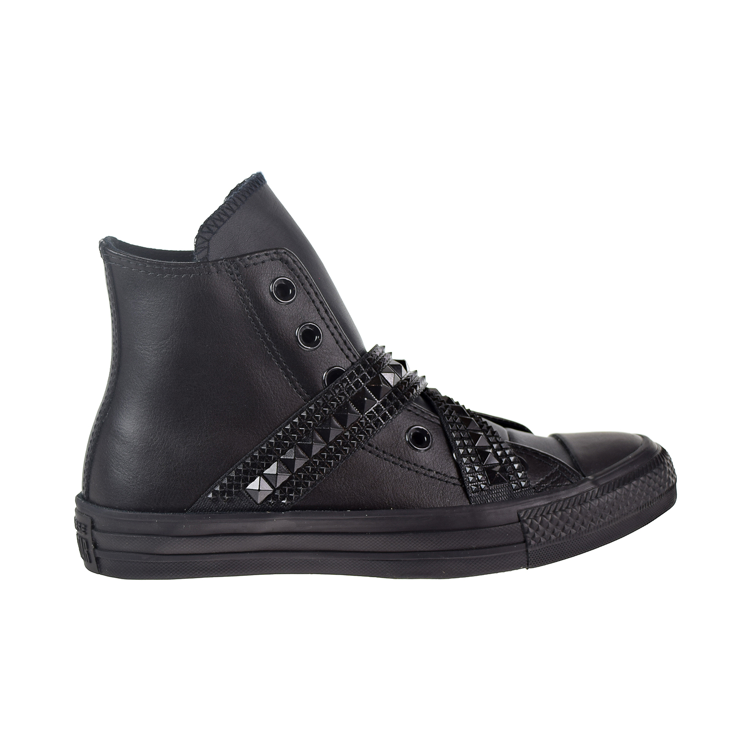 b5a08936281b Details about Converse Chuck Taylor All Star Punk Strap Hi Women s Shoes  Black 562430C