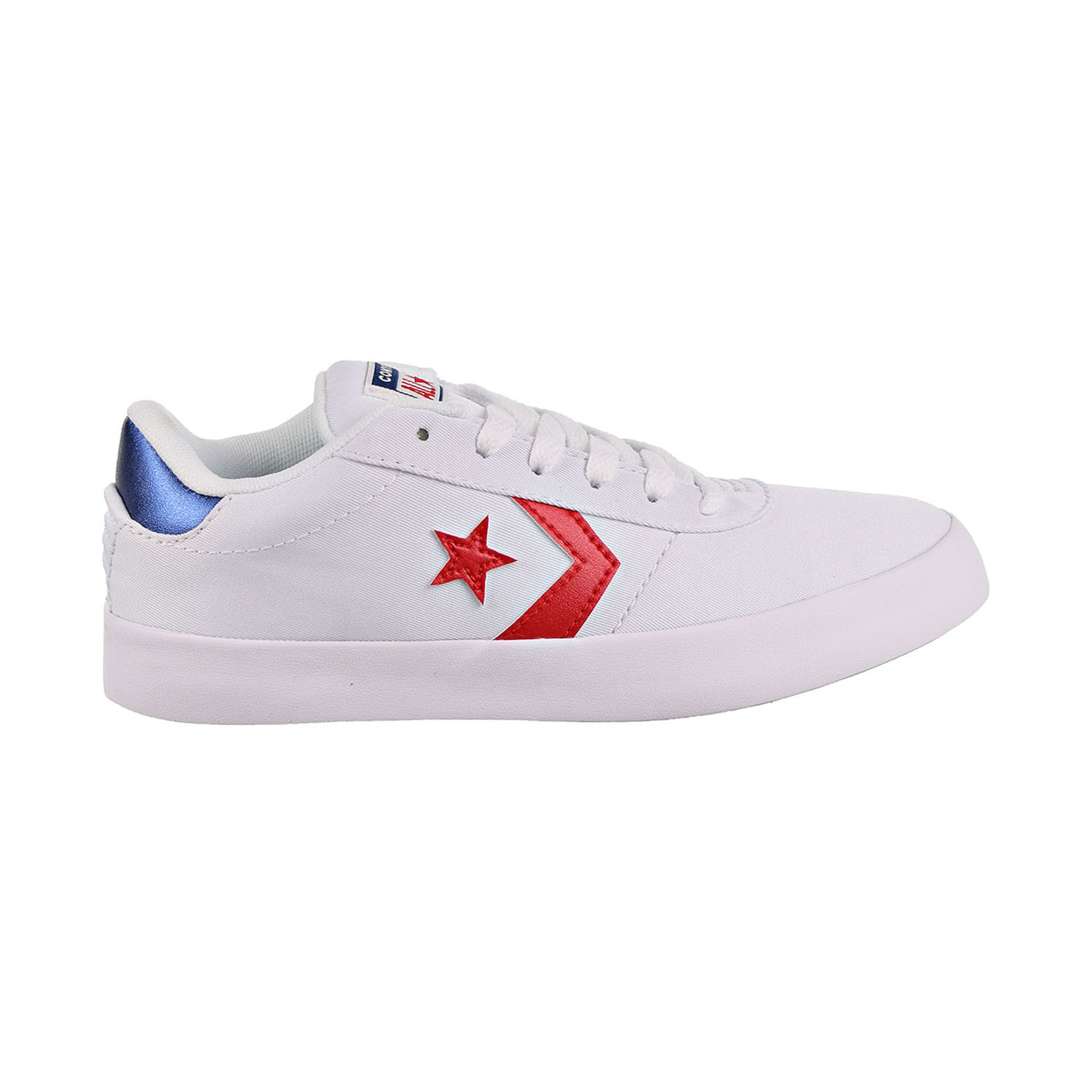 Details about Converse Point Star Ox Women's Shoes White Enamel Red Navy 563431C